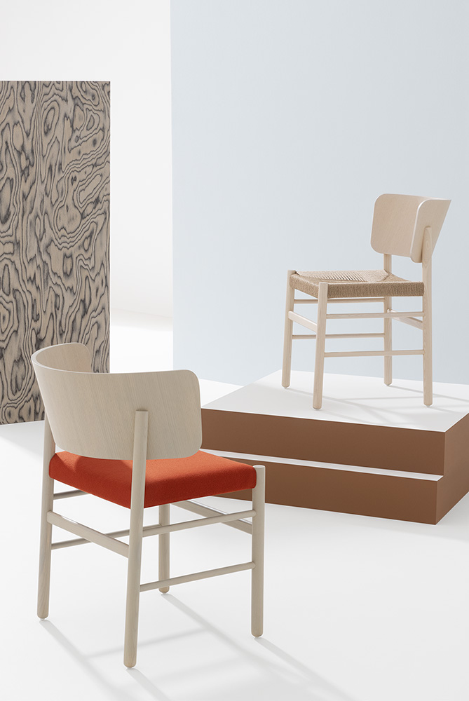 Fratina Armchair - The Fratina Armchair comes in stained or lacquered Ashwood. It is available with a choice of seats: upholstered, with rope weave, hide, or straps. It suits being in a hallway or porch as well as the living room or round a table.   Fratina is Red Dot Design Award 2016 winner. | Matter of Stuff