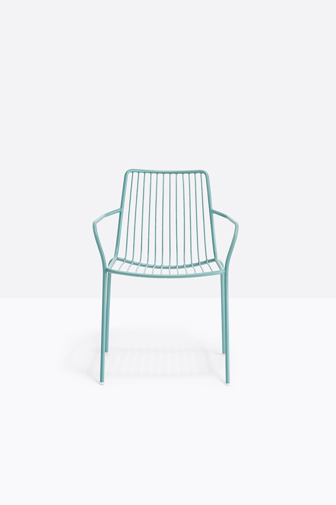 Nolita Armchair High Back - <p>Nolita is a family of outdoor seatings which recalls the origins of a historic course, started by Mario Pedrali in 1963 with his first metal garden chairs. Armchair with high backrest, completely made of steel and designed specifically for outdoor use. Stackable. A seat cushion is also available.</p>  | Matter of Stuff