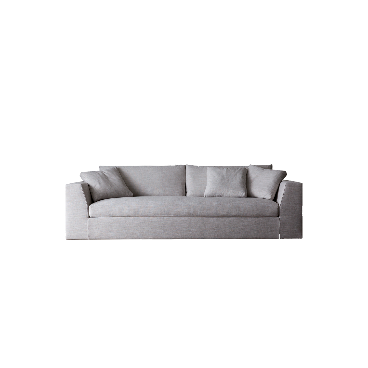Louis Small Sofa - Contoured armrests with an oblique cut are the characteristics of this collection and, thanks to the seat cushions, the total look results both softer and sophisticated. The possibility to play with its various elements with different depths allows to have versatile and eclectic combinations.  The sofa is available in different colours and configurations. Please enquire for more details   Matter of Stuff