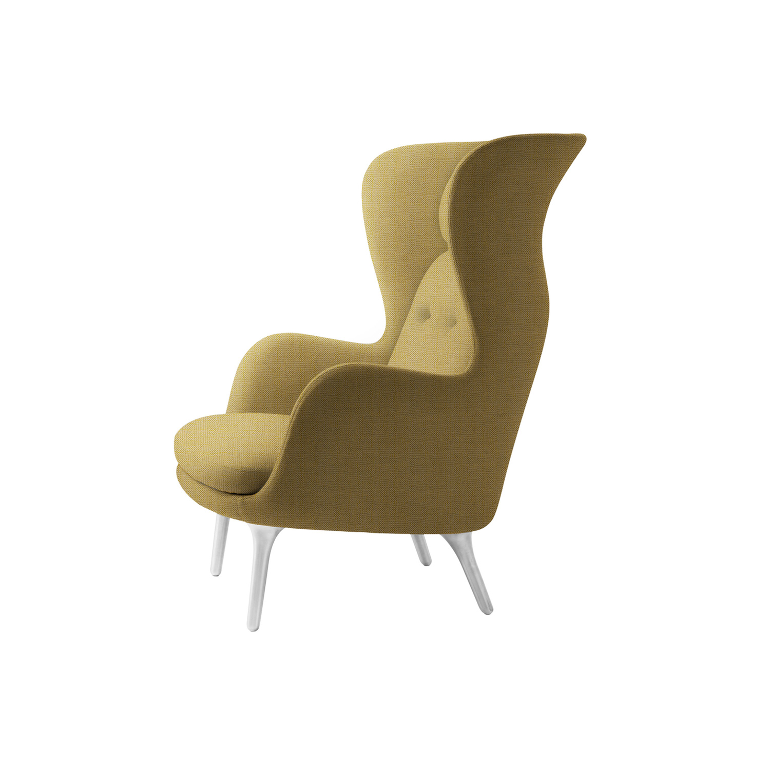 Ro Armchair - <p>Spanish designer Jaime Hayon has designed the wonderful lounge chair called Ro. The lounge chair gives you space for reflection and a moment to yourself. It creates a new comfort zone.<br /> Ro is softly sculptured and formed after the curves of the body. With no sharp edges or roughness, it invites you to sit down and relax and reflect. The aesthetics of Ro do not compromise functionality and the functionality does not compromise the aesthetics. </p> <p>The design of the shell is elegant and simple, pleasing to both the eye and the body, and promises tranquillity in both its visual appearance and comfortable functionality. Furthermore, the form of the shell allows you to choose between taking part in what goes on in the room or relaxing in your own private space. </p> <p>The shell of the chair is created in hard polyurethane foam with glass fibre re-enforcement of the edges as in the Egg and the Swan. The footstool has a bottom plate made of MDF on which the seat cushion is mounted. The seat cushion for both the chair and the footstool is made of moulded polyurethane foam to achieve the right form and comfort. </p> <p>The back cushion on the chair is made of two slices of soft foam with a lumbar support to increase ergonomy and comfort. The neck cushion is a construction of form-pressed veneer with a super soft foam. It's mounted with two fittings and it is, therefore, possible to order and change the entire neck cushion. The base comes with four legs made of satin brushed aluminium or with a wooden base/legs in oak. Each leg has mounted nylon glides, suitable for most floors.  </p> <p>A range of materials, colours and finishes are available in a number of combinations. Prices may vary. Please enquire for full details.</p>  | Matter of Stuff