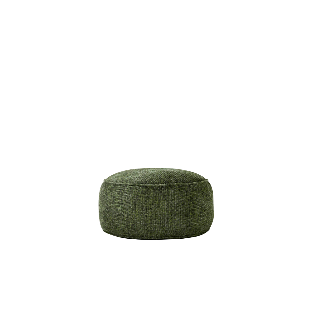 Chico Ottoman - Bold stitching and soft, casual shapes − with fully removable fabric or imitation leather covers − are the distinguishing features of the Chico collection of ottomans. They come in a circular, square and rectangular version.  The inside consists of virgin polystyrene beads. There is an option of adding a spare cover for an extra charge too.  | Matter of Stuff