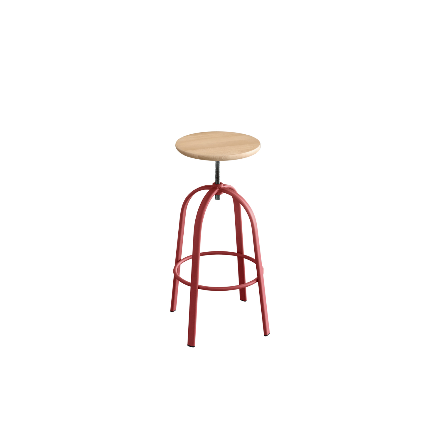 Ferrovitos Stool - Drawing its inspiration from the stools used in the past in Italian schools, this essential item knows when to appear discreet and when to dare a brightly coloured frame.
