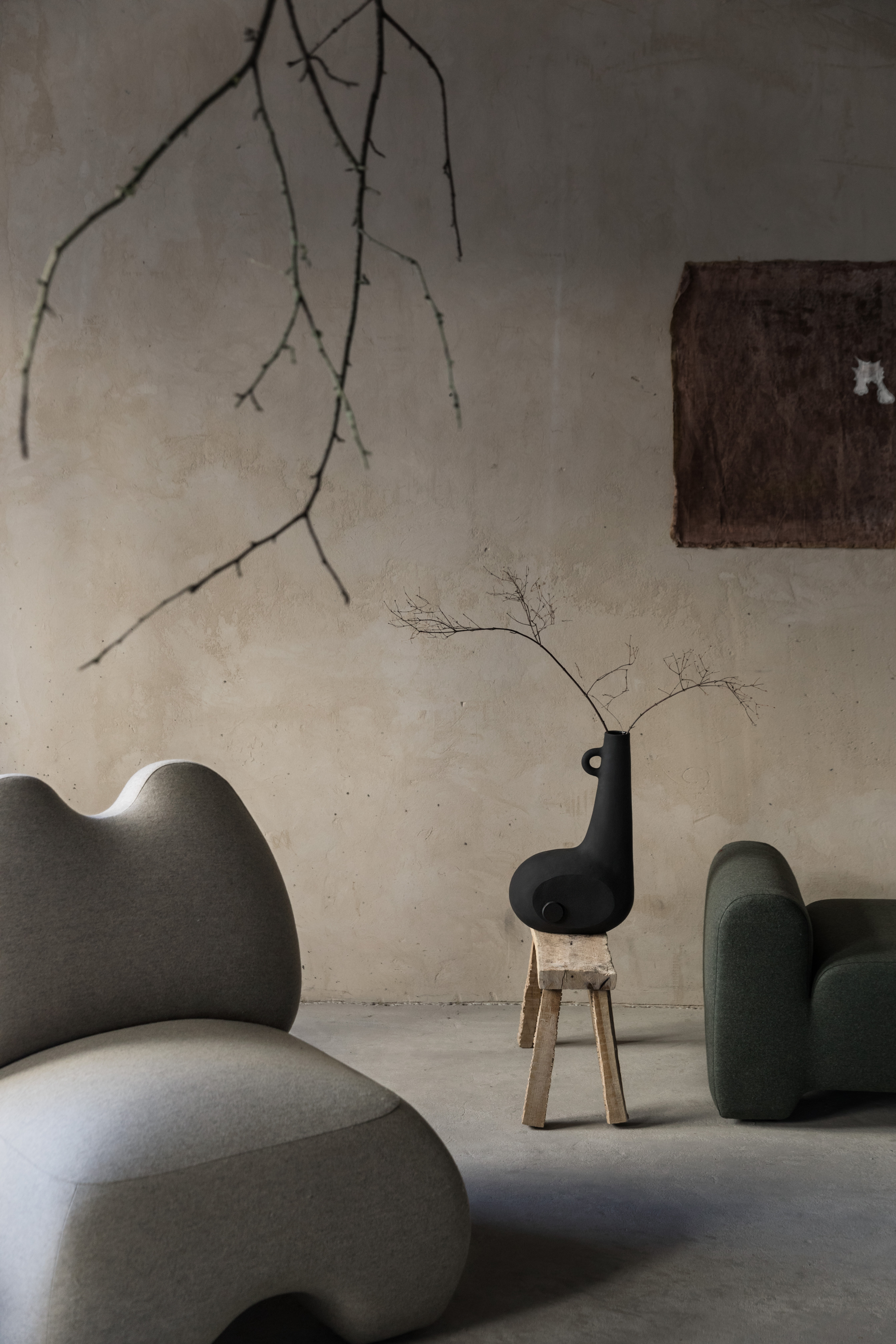 """Domna Armchair - """"Domna"""" in Ancient Ukrainian means home-maker, goddess of welfare. The armchair Domna is a new design piece with a soft exterior and at the same time hawkish temper that tends to be the mistress of any space. 