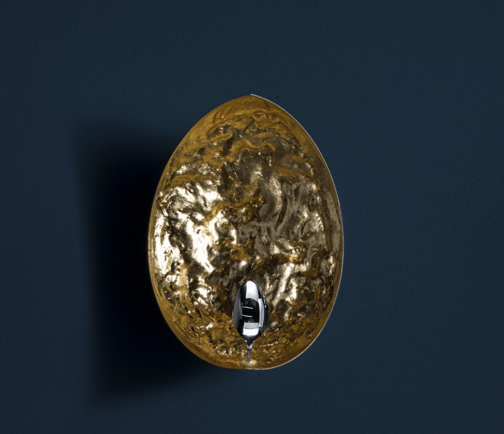 Stchu-Moon 05 Wall Lamp - Stchu-Moon separates the light source from the lighting object, which takes on its own aesthetic quality as a result. The light is refracted off deliberately irregular surfaces, which multiplies their quantity, making the entire object a glowing light. | Matter of Stuff