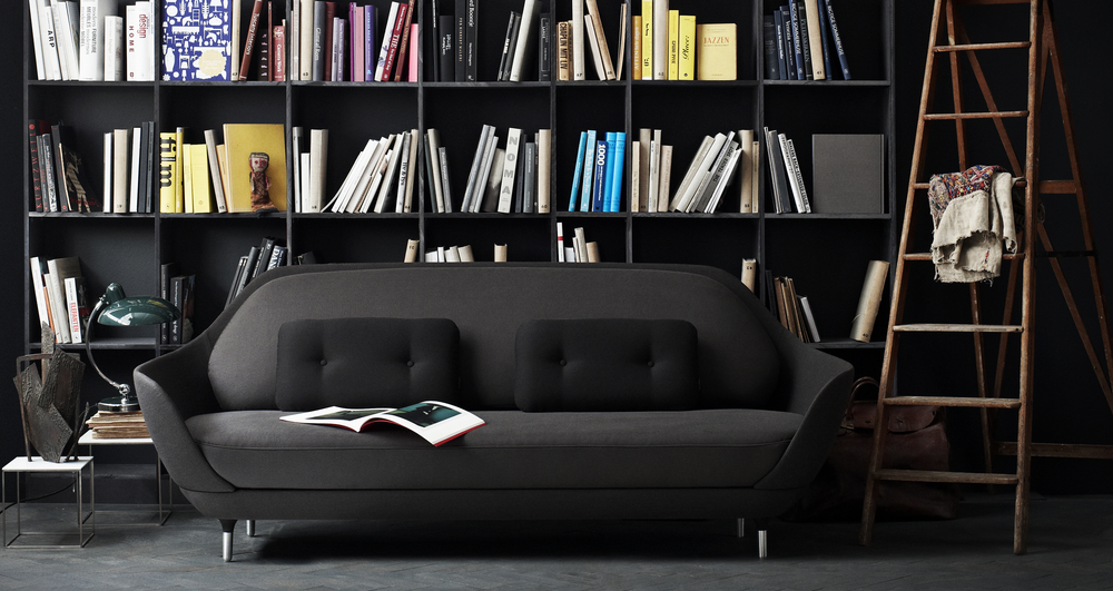 Favn Sofa - <p>Favn is the Danish word for embrace, is a result of a creative dialogue between the Spanish designer, Jaime Hayon and Fritz Hansen. The sofa's open and rounded curves are inviting, and perfect for relaxation, work and everything in-between. </p> <p>The shell consists of two parts; a base and a back shell, both are made from hard polyurethane foam with fiberglass reinforcement. Both parts have an embedded steel frame and the base is mounted nozag springs as well. The base and back shell are assembled with 6 steel brackets and Hex screws (can also be disassembled for moving with a Hex key no.4). The outside of the back shell and base is covered with a thin, soft layer of polyurethane foam and wadding.</p> <p>The Favn sofa comes in a selection of unique Designer Selections colours in a mix of 3 fabrics; one fabric for the shell, a second for the seat and back cushions, and a third fabric for the small decorative cushions. The sofa is also available in a wide range of standard fabrics. The 4 legs are made of brushed aluminium and a set of large felt glides (for soft wooden floors) comes with the sofa as a standard.</p> <p>A range of materials, colours and finishes are available in a number of combinations. Prices may vary. Please enquire for full details.</p>  | Matter of Stuff