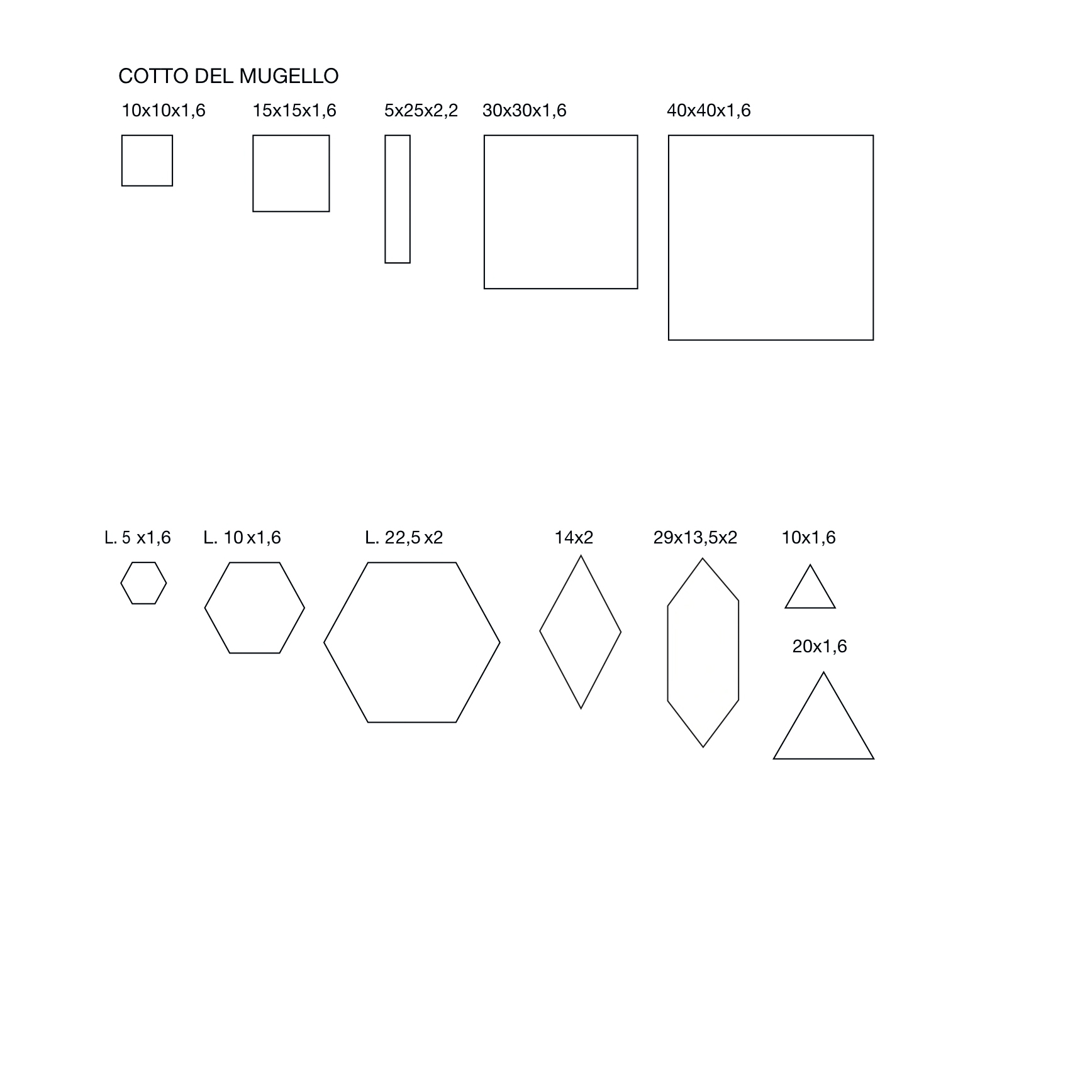 Rectangular Cotto Tiles -  | Matter of Stuff