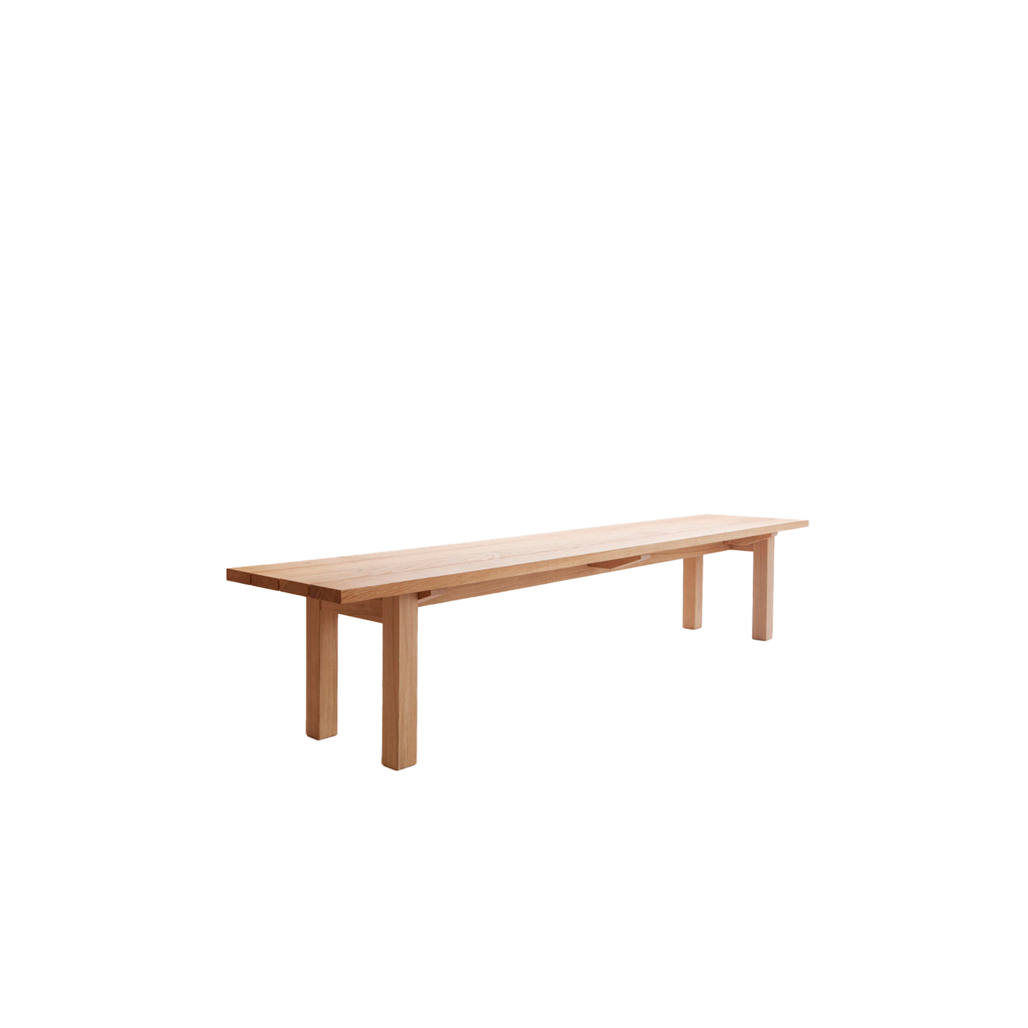Arkipelago KVI10/KVI10T Bench - The Arkipelago series is designed to be used both indoors and outdoors.    The outdoor version (KVI10T) is only available in oak with an oiled finish and the top consists of planks. The indoor version (KVI10) is available in oak or ash with an oiled finish and the top is a solid seat or made of planks. This bench is available in two different lengths.  | Matter of Stuff