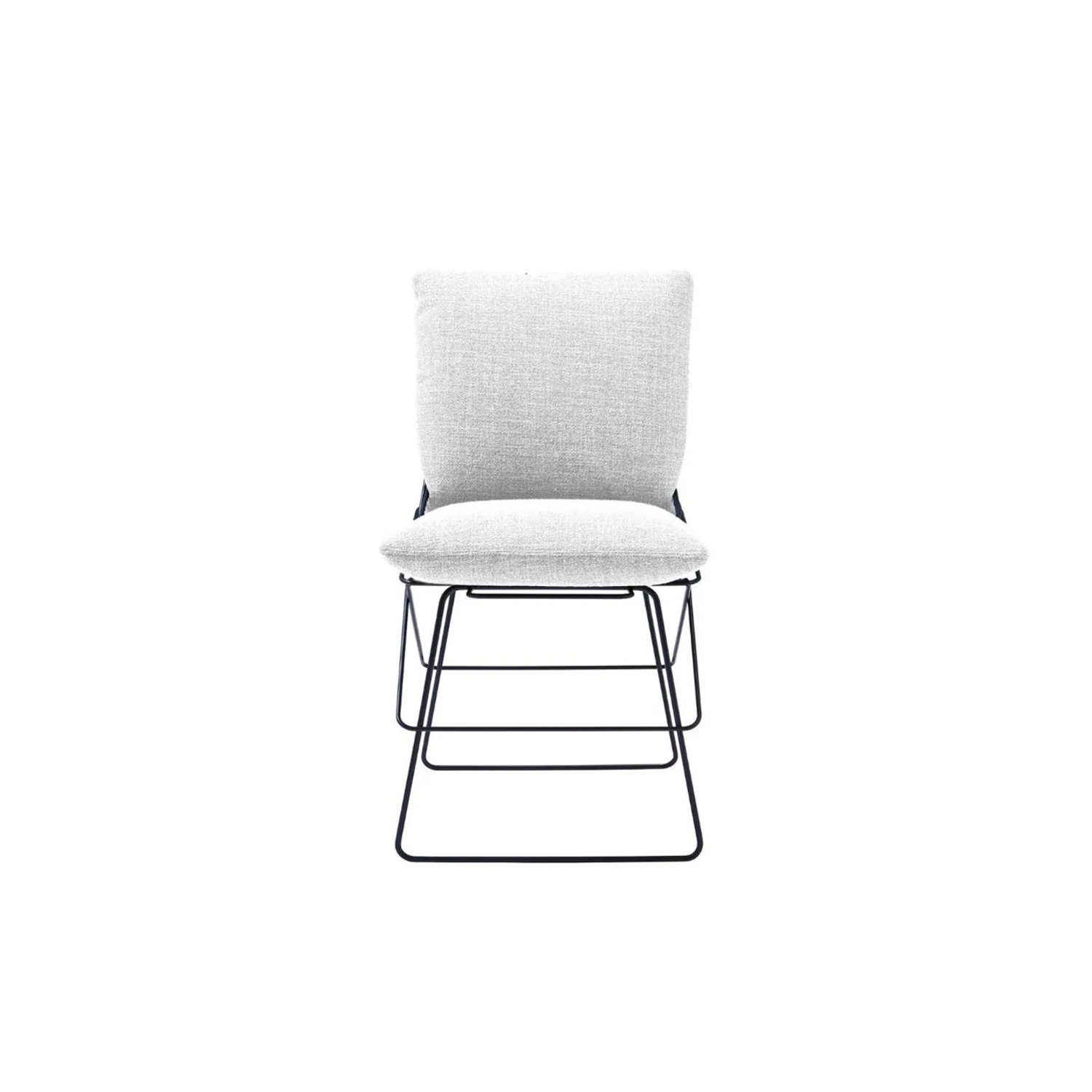 Sof Sof Outdoor Chair - This chair has harmonious lines that convey the essential elegance of the design by Enzo Mari. Made by Driade in 1972, and redone in 2015, Sof Sof is a timeless icon. The structure is almost a sculpture, made up of nine steel rod rings that simultaneously define the top of the seat and the shape of the back   | Matter of Stuff