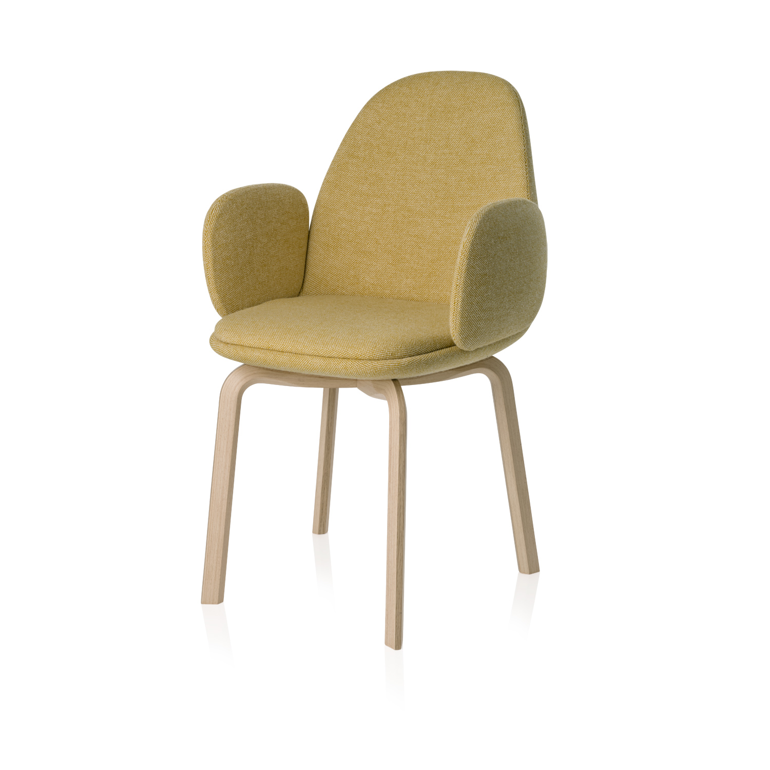 Sammen Armchair - <p>The Sammen chair is available in two varieties: With or without armrests. The shell and seat cushion come fully upholstered in 6 different designer colours. </p>