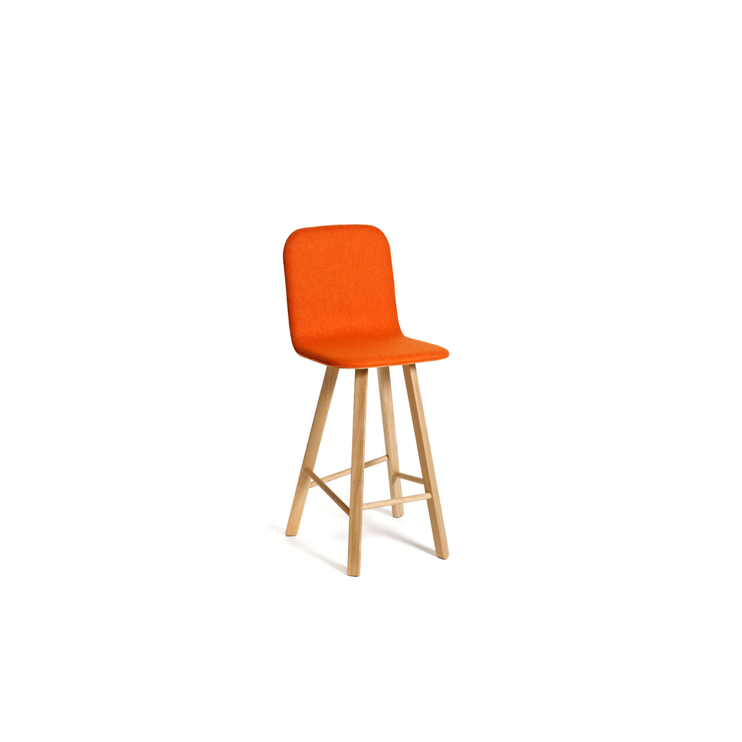 Tria Stool Low Back Upholstered