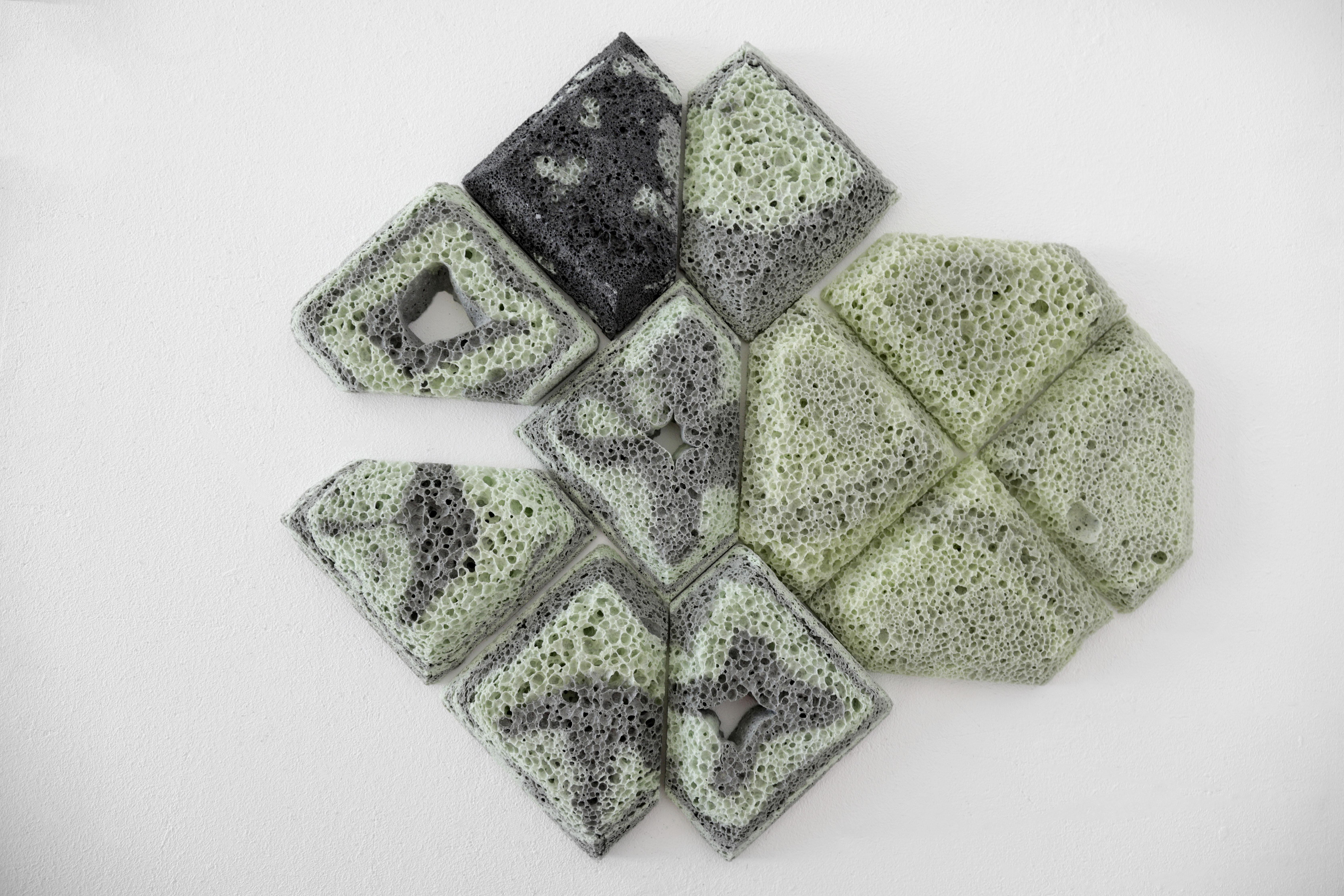 Glass Foam Tiles Pale green