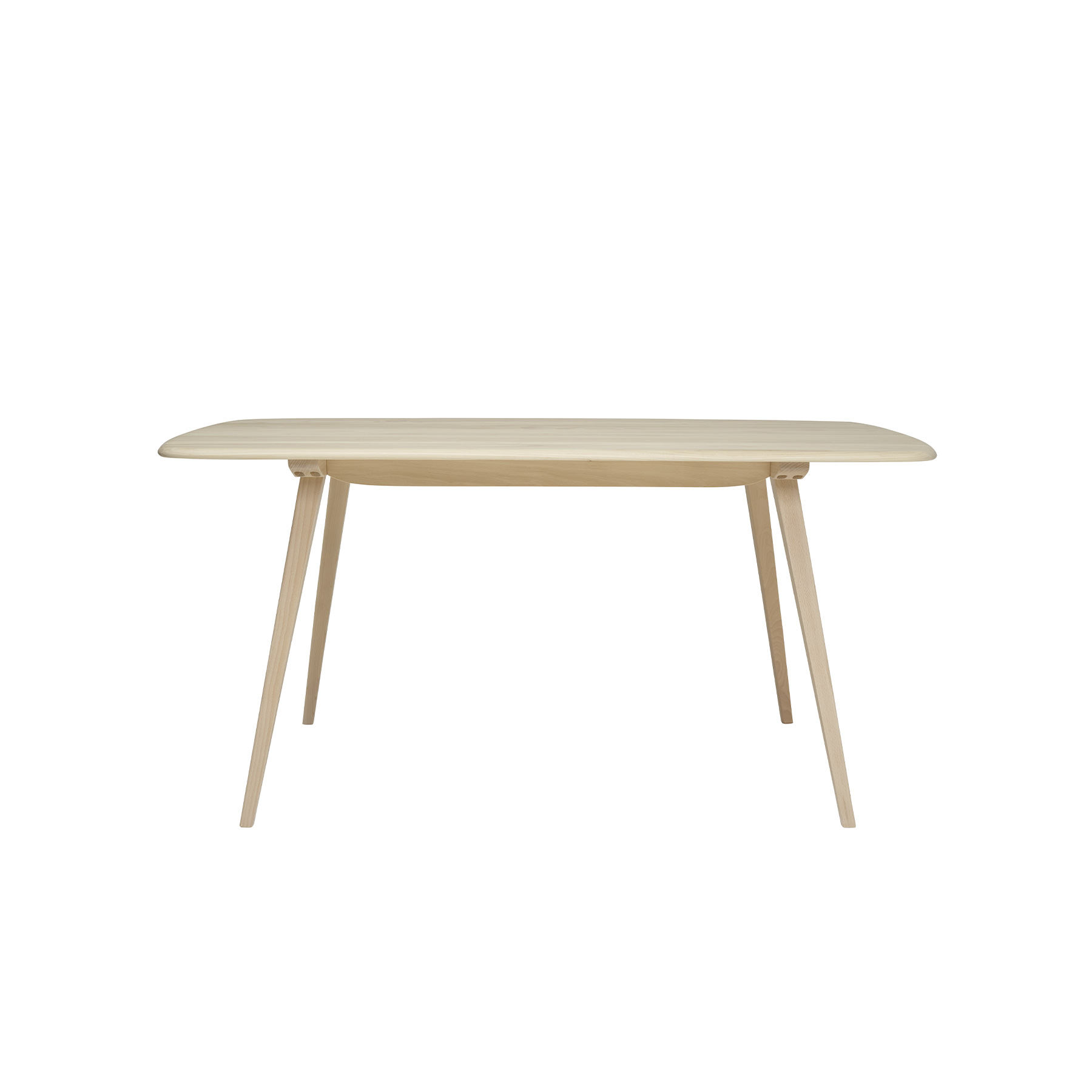 Originals Plank Table - <p>The Ercol Originals are pieces of timeless and classic design that never date or show their age. It is furniture that is as relevant and as functional now as it was when it was created in the 1950s and 1960s. This furniture was designed by Ercol's founder, Lucian Ercolani, who drew for his inspiration on the time-proven local design and craft in the Chiltern Hills around where he lived and built his first factory in 1920 in High Wycombe. Using the strength of beech and the beauty of elm he carried this definition on into a huge variety of dining, kitchen, and school chairs and then extended the idiom into the low easy chair range epitomised by the 206 armchair and the studio couch. The beauty of the colour and the grain of the elm took Lucian on to use elm for the tables and cabinets of the Originals and the following Windsor range. This stylish dining table boasts outward facing tapered legs and a solid Ash top with attractive rounded edges, creating a simple but contemporary feel. This table seats 4-6 guests. It will be finished in your choice from a selection of lacquer finishes that both protects the timber, whilst enabling you to choose the look to match your style and décor. Alternatively, you can opt for one of Ercol's paint finishes to provide a pop of colour.</p>    Matter of Stuff