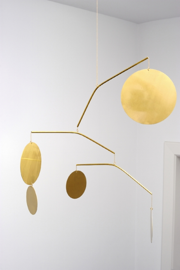 Celeste - <p>Céleste is a large-scale earring and a carefully balanced construction made of brass. Thanks to movements in the air and a continuously changing design, Céleste brings visual interest to a space. The inspiration for this work came both from my experience as a jewellry designer and my love for the work of the American sculptor Alexander Calder.</p>  | Matter of Stuff
