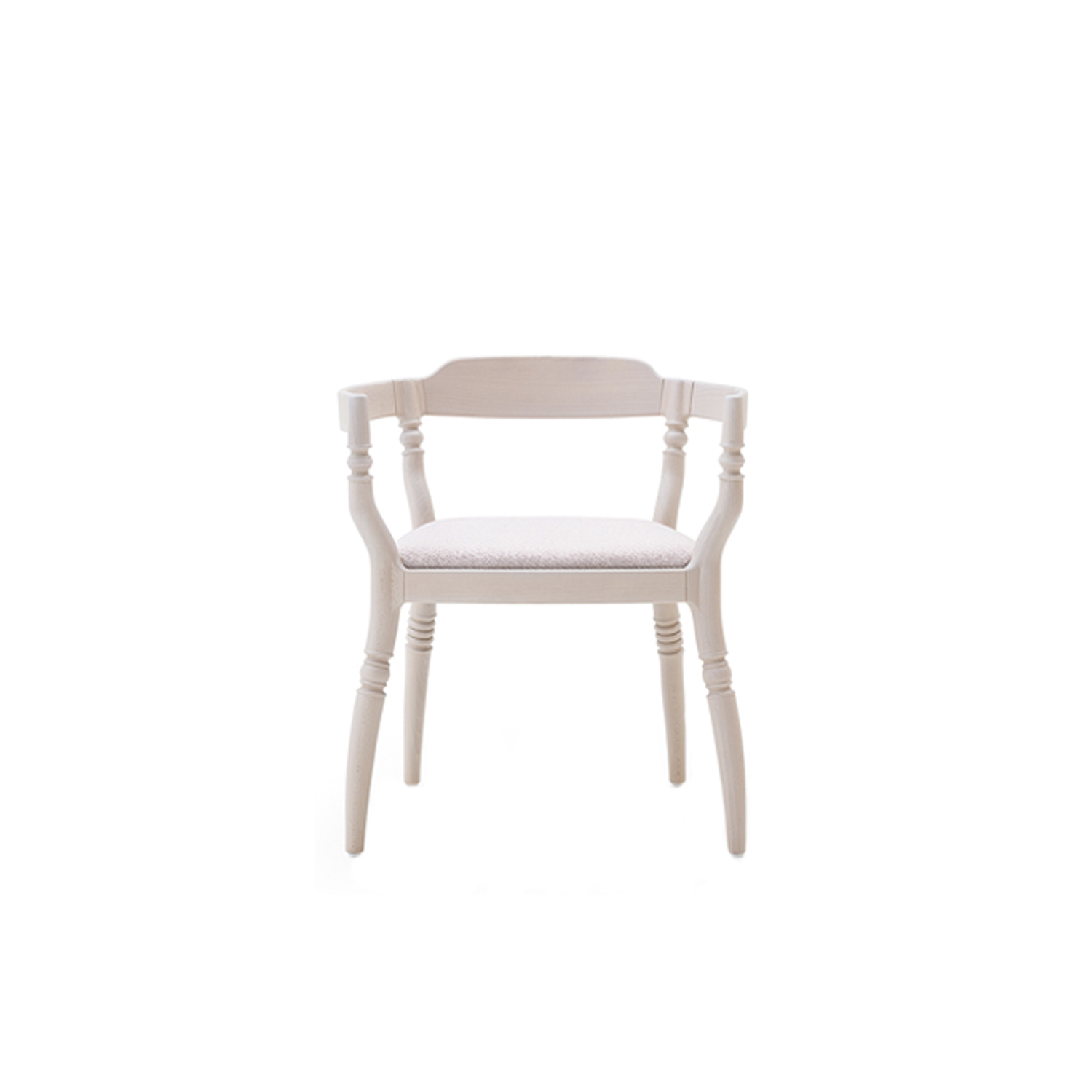Fuga Armchair - A harmonious little theme. Armchair in solid beech, with an upholstered or leather seat.  | Matter of Stuff