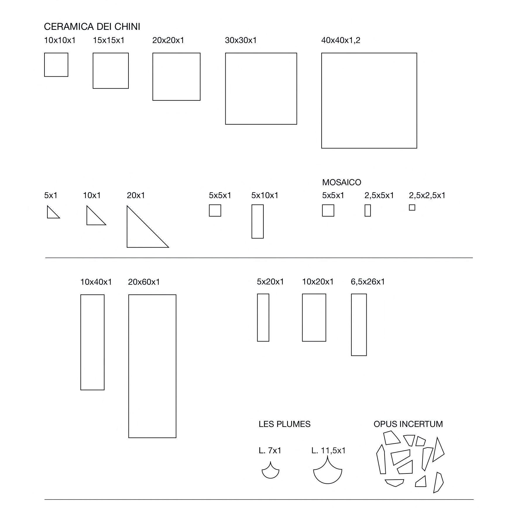 Square Tiles Strappati Rosso -  | Matter of Stuff