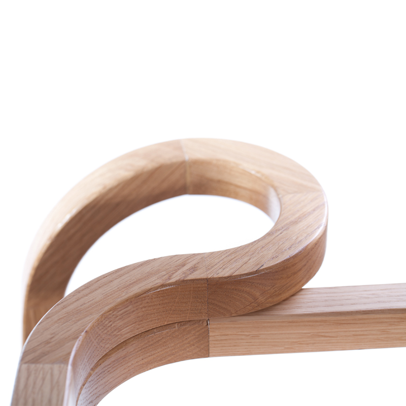 Odette Armchair - <p>Odette elegantly shows that a wooden armchair can recall the cosiness of our grandparents' wingback armchairs. At first sight she seems to belong to the vast array of bentwood chairs, but a closer look reveals her true nature: the more pronounced curves are formed by 28 hand assembled pieces of solid oak wood. Enjoy her company at the dining table or, adorned in Italian leather, in the living room.</p>    Matter of Stuff
