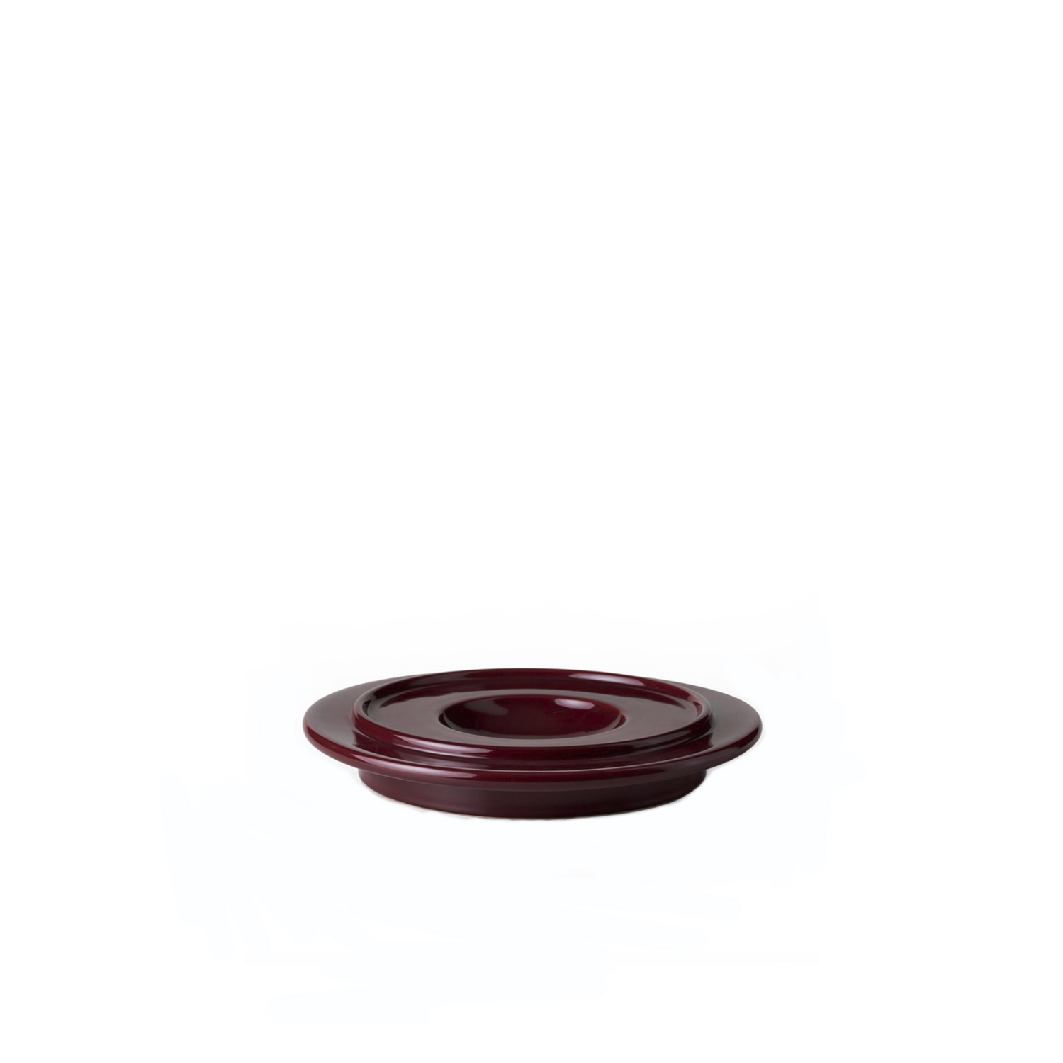Red Glossy Ashtray - Ashtray. Hand-turned in white clay. Glossy red glaze. | Matter of Stuff