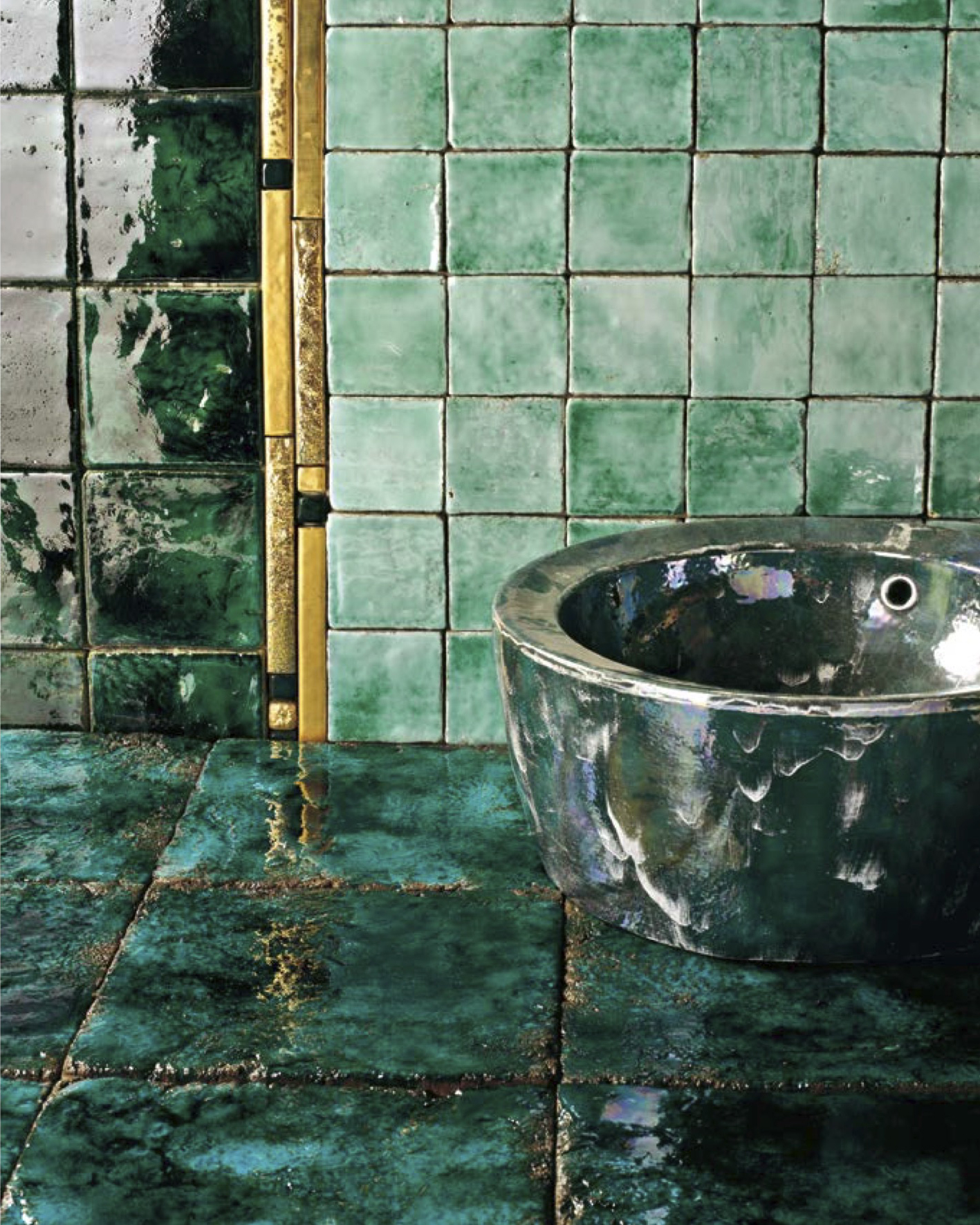 Square Cotto Tiles Green -  | Matter of Stuff