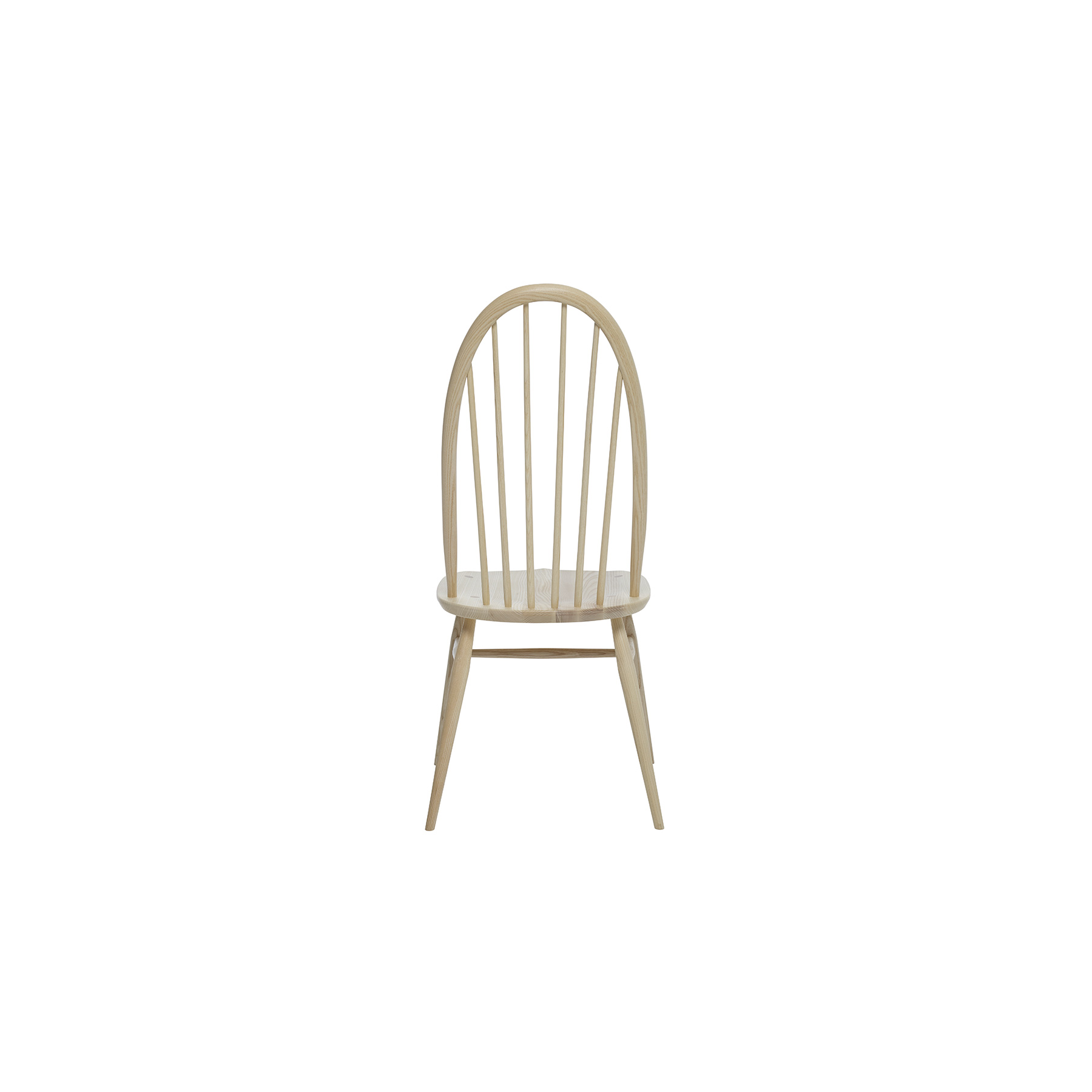 Originals Quaker Dining Chair - <p>The Ercol Originals are pieces of timeless and classic design that never date or show their age. It is furniture that is as relevant and as functional now as it was when it was created in the 1950s and 1960s. This furniture was designed by Ercol's founder, Lucian Ercolani, who drew for his inspiration on the time-proven local design and craft in the Chiltern Hills around where he lived and built his first factory in 1920 in High Wycombe. Using the strength of beech and the beauty of elm he carried this definition on into a huge variety of dining, kitchen, and school chairs and then extended the idiom into the low easy chair range epitomised by the 206 armchair and the studio couch. The beauty of the colour and the grain of the elm took Lucian on to use elm for the tables and cabinets of the Originals and the following Windsor range. The perfect addition to any home, this Quaker dining chair compliments both traditional and contemporary decor. An evolution of the Windsor design, this chair presents a tall u-shaped, six spindles back and sculpted oval seat for a supportive sit. The chair bow is steam bent from a single straight ash rail into this amazingly tight radius bend and then sanded and shaped to give its subtle and elegant profile. Traditional wedge joints, where the legs come right through the seat and a wedge is then inserted into a cut before the leg stump is hand sanded flush with the seat, both provide a lovely design detail and a very strong joint. Further strength is provided by the H-underframe. This timeless dining room furniture is designed to complement any of the dining tables in the range and will be finished in your choice from a selection of ercol lacquer colours. </p>  | Matter of Stuff