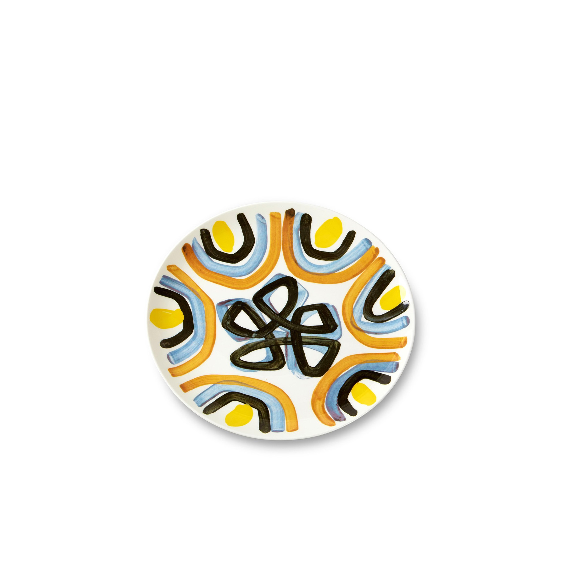 Yellow Flower Dinner Plate - Peter Pilotto's vision of womenswear embraces both new and classic perspectives on elegance. Otherworldly prints combine with soft sculptural shapes to form the handwriting of the design duo. The fine bone china table ware collection celebrates their aesthetic with the wonderful use of pattern and colour.