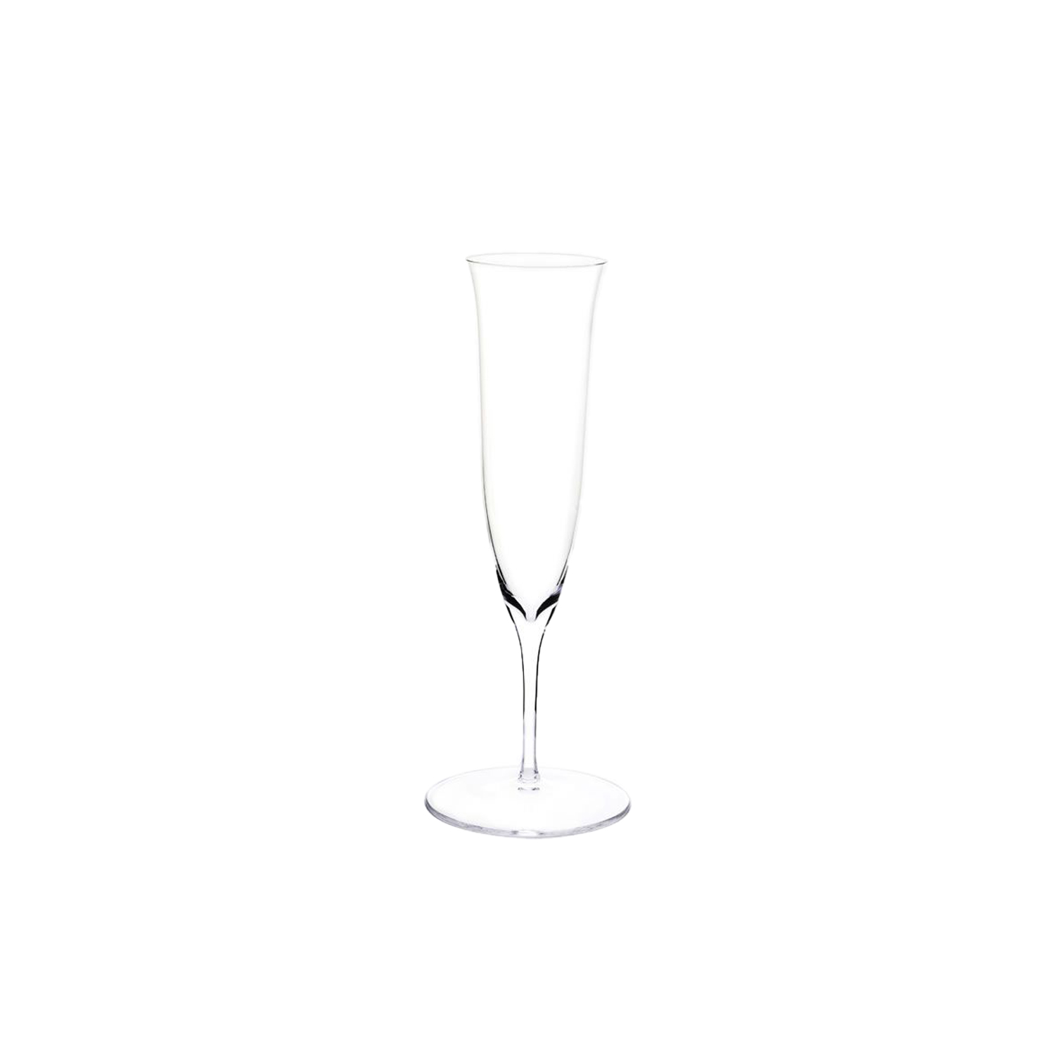Drinking Set No.238 Champagne Flute - Set of 6 - The perfectly flowing contours of these original Hoffmann shapes make this muslin glass service a classic. Josef Hoffmann designed the elegantly balanced glasses for Lobmeyr as early as 1917. The material, extremely delicate muslin glass, hand-blown in wooden shapes, gives the series its elegance. | Matter of Stuff