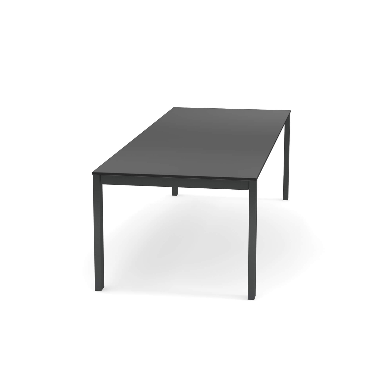 Round Extensible Table With HPL Top - The Round Extensible Table With HPL Top can be extended to suit your space or needs. The length it comes in is 160 cm but this can be extended +54 cm and then +54 cm again of needed. This tables comes in two finishes: Matt White Steel Frame with a White HPL top and Antique Iron Steel Frame with a Grey HPL top. Please refer to the Colours and Finishes attachment to see these colours. 
