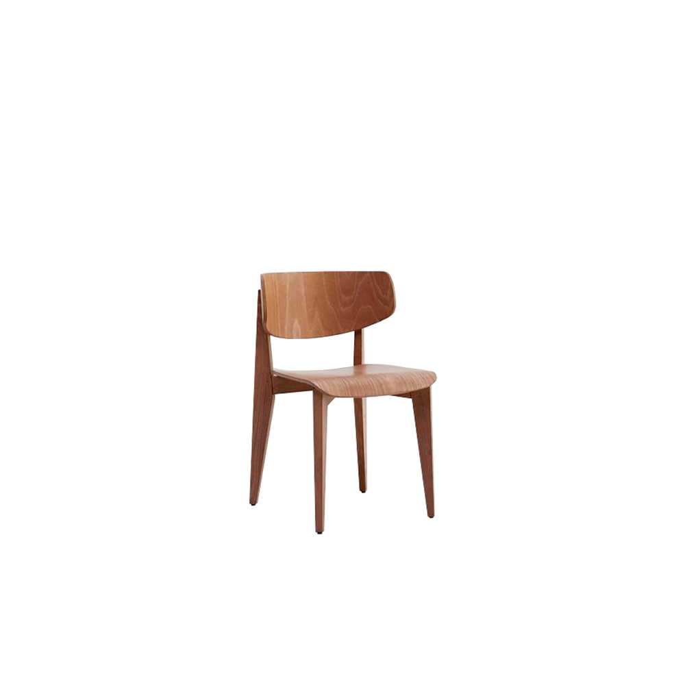 Ksenia Wood Chair - The Ksenia collection is made up of chair, stool and lounge. Its elegant design is given by rounded shapes and movements.   The seat and backrest completely made in beech wood. Available version with rounded seat also.  Product can be customized in a range of finishes:                               RAL/NCS colour lacquering I Aniline RAL/NCS colour I Acrylic finish. | Matter of Stuff
