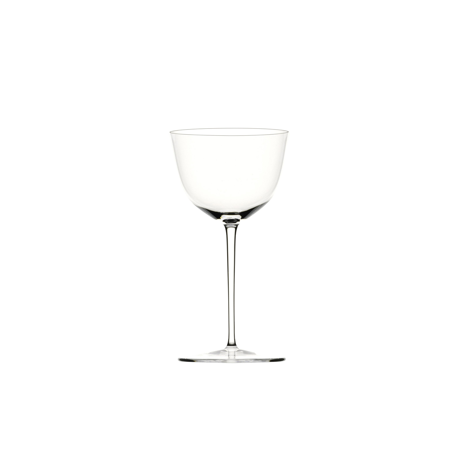 Drinking Set No.238 Wine Glass IV - Set of 6 - The perfectly flowing contours of these original Hoffmann shapes make this muslin glass service a classic. Josef Hoffmann designed the elegantly balanced glasses for Lobmeyr as early as 1917. The material, extremely delicate muslin glass, hand-blown in wooden shapes, gives the series its elegance.   Matter of Stuff