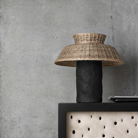 "Strikha Table Lamp - ""Strikha"" in Ukrainian means the straw roof. The light of lamp is leaking through the patterns of the willow vine, pouring the heat of the Ukrainian village to the home. Created in three independent formats STRIKHA radiates warmth and pure light even in the darkest days of winter. 