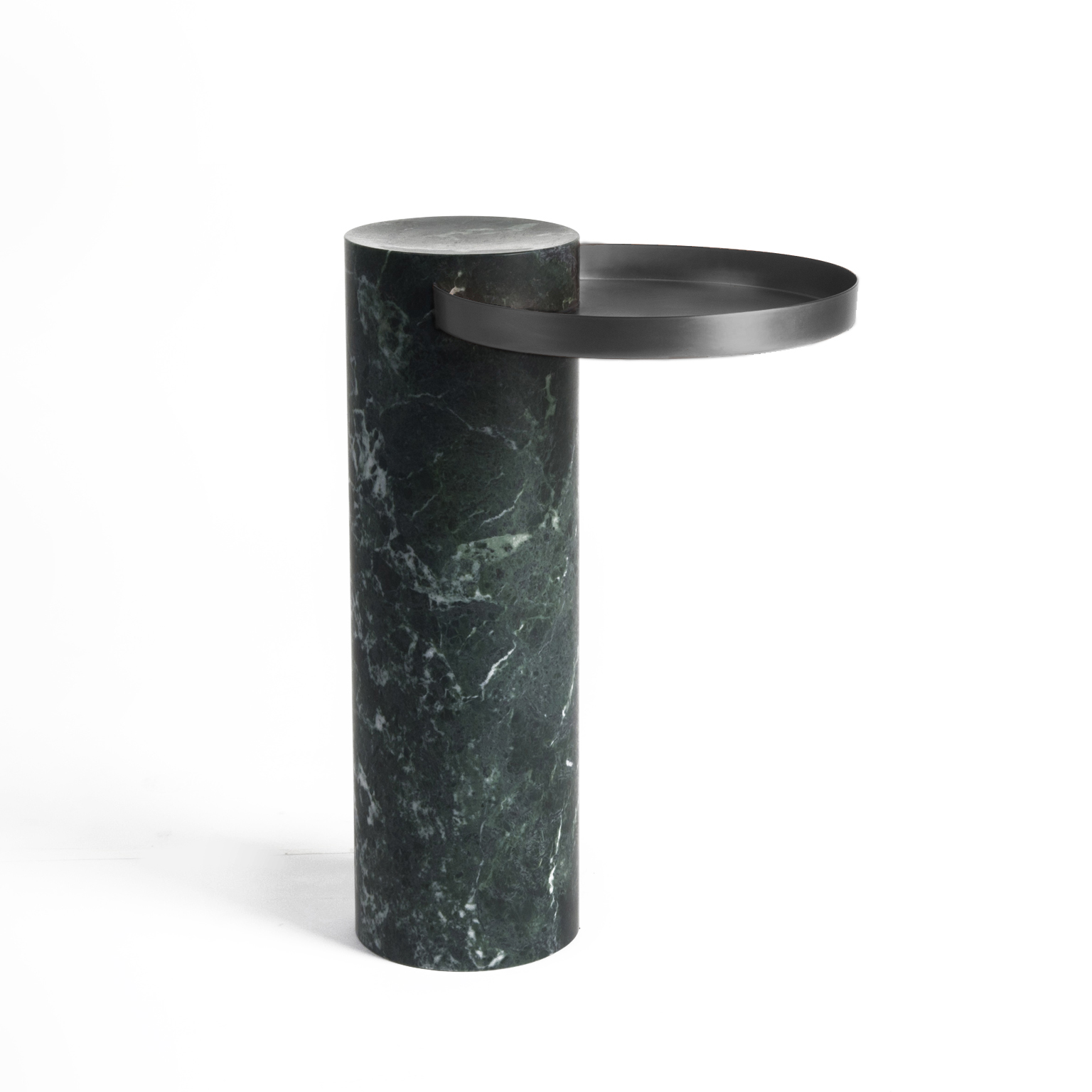 High Salute Coffee Table - <p>Salute is a family of tables.<br /> Each element can be used alone (coffee table, occasional table) or combined together to play with different heights and formats as well as combinations of materials. The strong presence of the marble column is lightened by the suspended shape of the metal tray.</p>  | Matter of Stuff