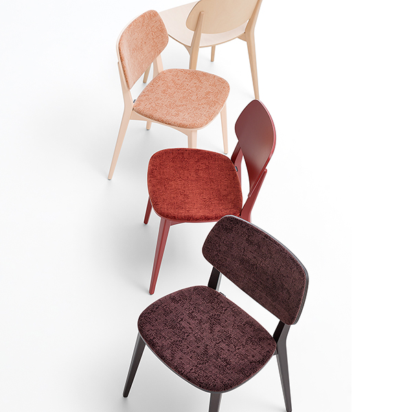 Doll  Upholstered Chair - <p>Side and armchairs with frame in stained or lacquered beechwood or in lacquered steel, available also with upholstered back and seat, in stackable version and with armrests.</p>  | Matter of Stuff