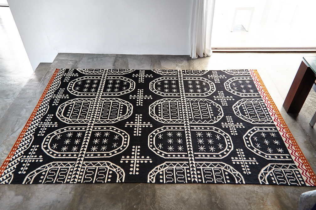 Tasili Rug - <p>The kilim is a canvas where we weave the excitement of art for art's sake to then project this value in your house. Due to the handmade nature of the GAN product, slight variations in size, colour, finish are normal. </p> This rug comes in three sizes so that you can make sure it fits into your space.   | Matter of Stuff