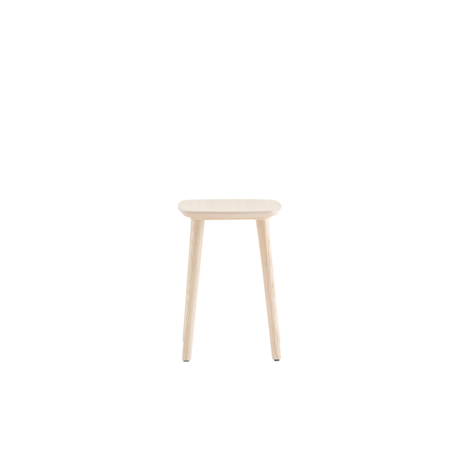 Babila Stool Short - Babila collection is able to move along tradition and innovation with great agility. The strenght of this collection is its simplicity and directness, to recall a timeless shape. Ash wood barstool with tapered legs that perfectly join the plywood seat. Height 460mm.