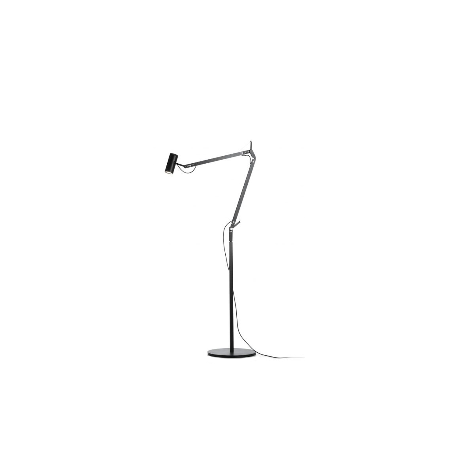Polo Floor Lamp - The fluidity of its movements and its total stability make this flexible fitting a light source which can be moved anywhere without cluttering your desk or taking up too much valuable space. Its integrated LED technology allows one to direct the beam with the utmost precision, for a light that is both focused and warm, yet highly useful.