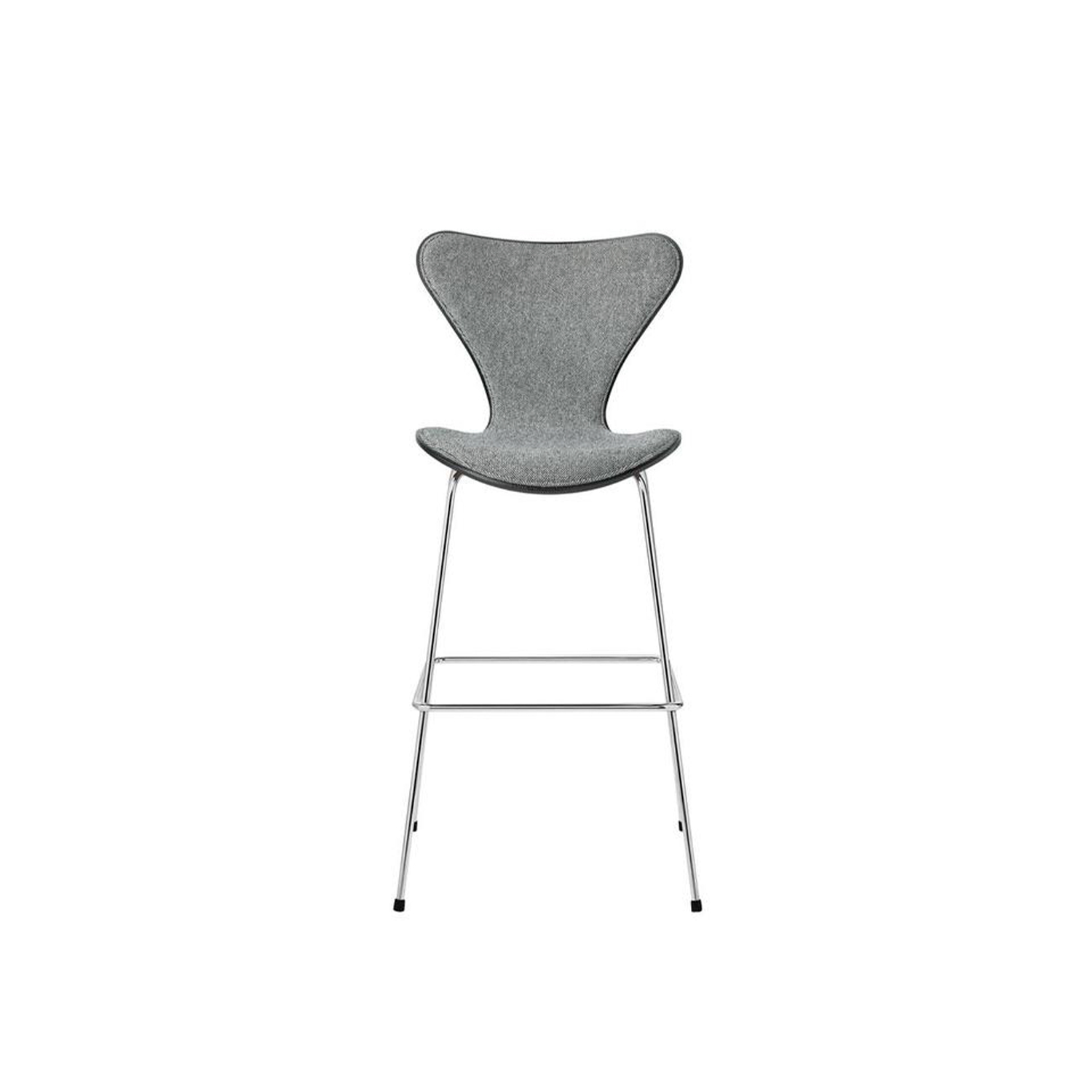 Series 7 Bar Stool Front Upholstered - The Series 7 barstool is a beautiful, functional and urban extension of the classic Series 7 chair designed by Arne Jacobsen in 1955.