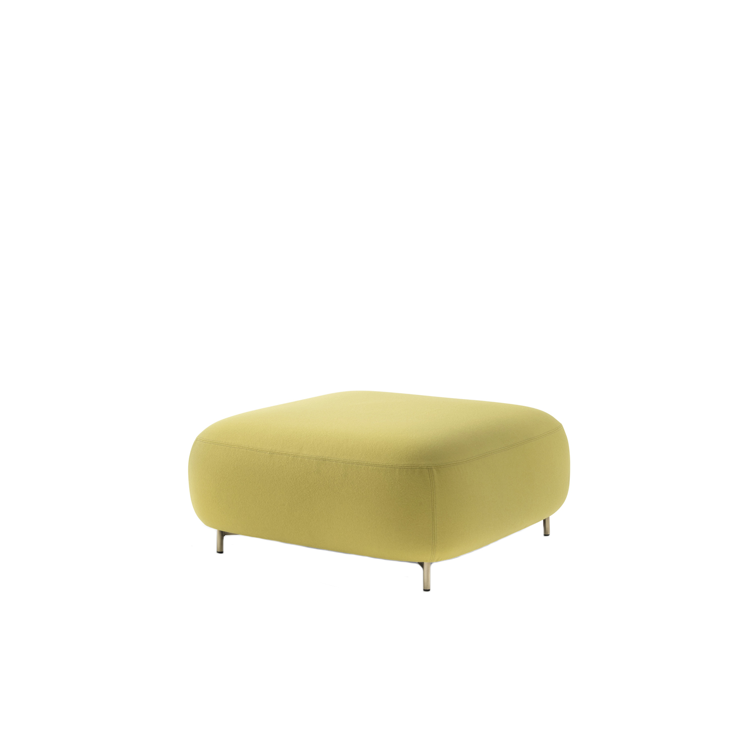 Buddy Pouf Large - Soft lines and clean design feature Buddy collection. The rounded shape of the pouf with a generous and comfortable upholstery is supported by four thin and rigorous legs Ø20mm. These make the pouf extremely functional and visually lift the volume from the ground. Height 400 - 450 mm.