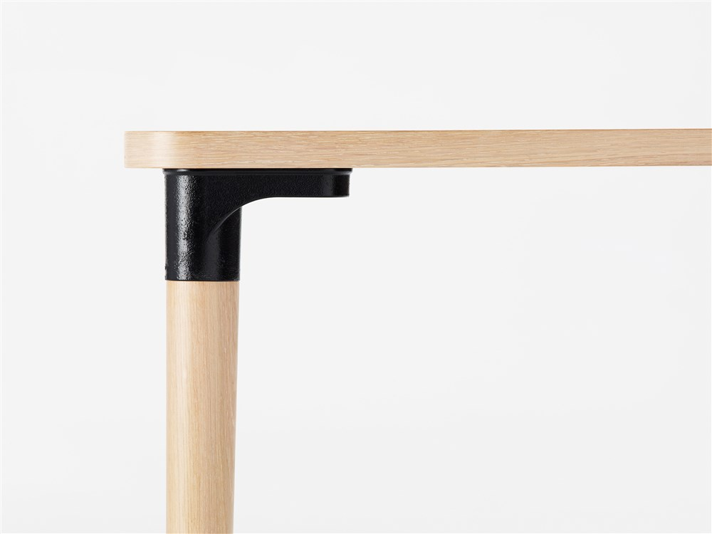 Tailor Table 2000 - <p>Tailor (2018) table is a versatile table in a multitude of different standard sizes and finishes – and it can also, of course, be ordered in dimensions perfectly tailored to meet customer needs. The leg mount is a sand-moulded casting of recycled aluminium, the shape and expression of which recalls the industrial heritage of the Husqvarna iron foundry. </p> <p>Tailor table comes in heights of 730 mm and 900 mm and 17 different sizes in rectangular, square or round versions. Choose from tabletops in strips of oak, birch or ash wood veneer, standard stains on ash and white glazed oak or ash. Top is also available in laminate (white, black matte, oak, birch, ash) and black desktop. Clear lacquered surface finish. Please enquire for details of non-standard sizes and finishes. </p> <p>The leg is of solid wood, secured in a socket-style leg mount made of sand-cast recycled aluminium. It is easy to separate the socket and the leg. The mount comes in a ball burnished finish as standard, but can also be lacquered in one of our standard colours. Every mount will be unique with its own structure and shade of aluminum. Tailor is a handsome and practical solution that is as much at home in flexible office.<br /> A range of materials, finishes, colours and accessories including built-in USB ports and cable slots are available in a variety of combinations. Please enquire for more information.</p>  | Matter of Stuff