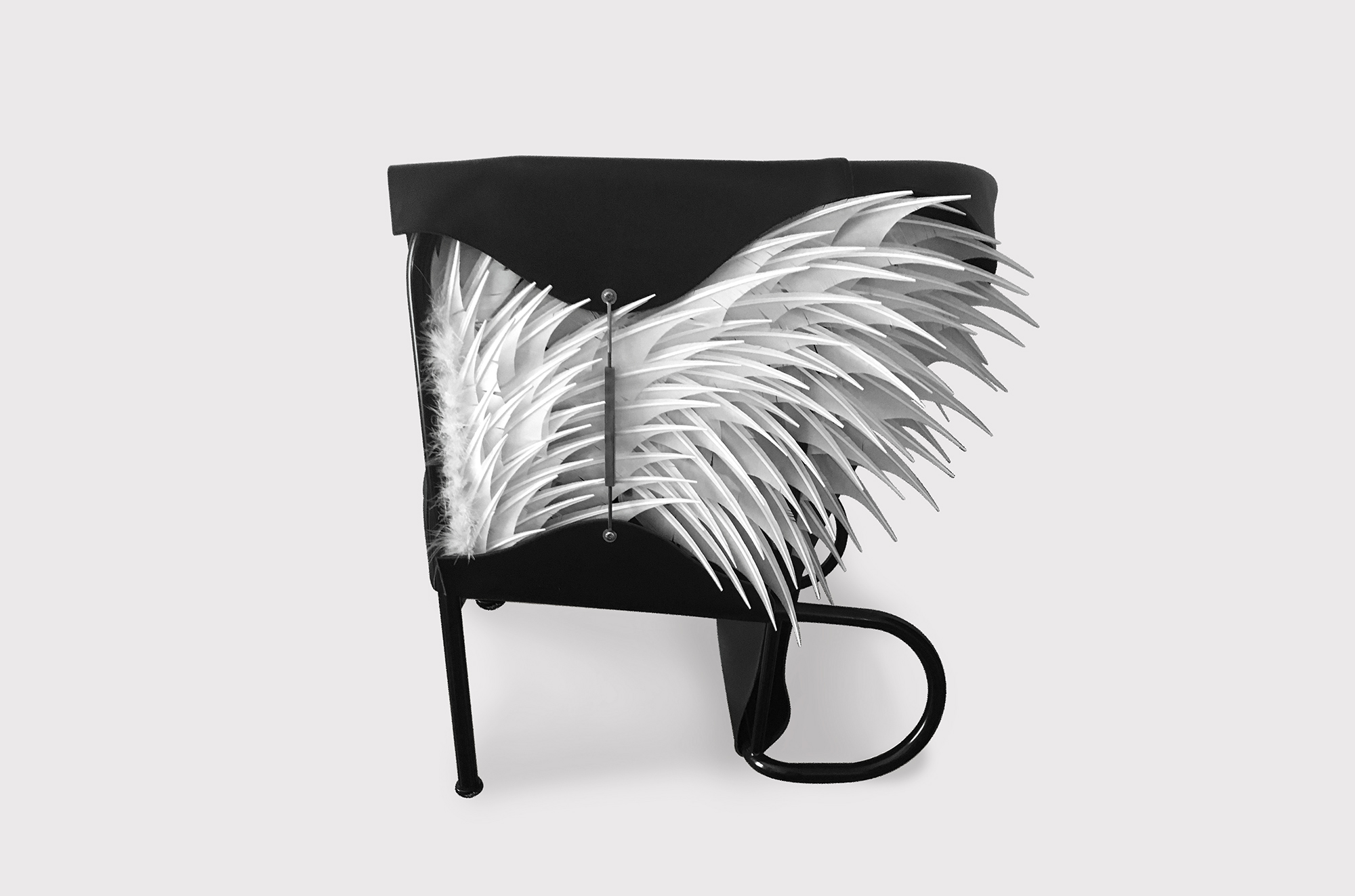 Club Lounge Chair - Accoutre N.2 - In the first edition of the 'Club Chair' (2016) the designer Glen Baghurst drew inspiration from high fashion and English saddlery and applied this to create his leather draped armchair.