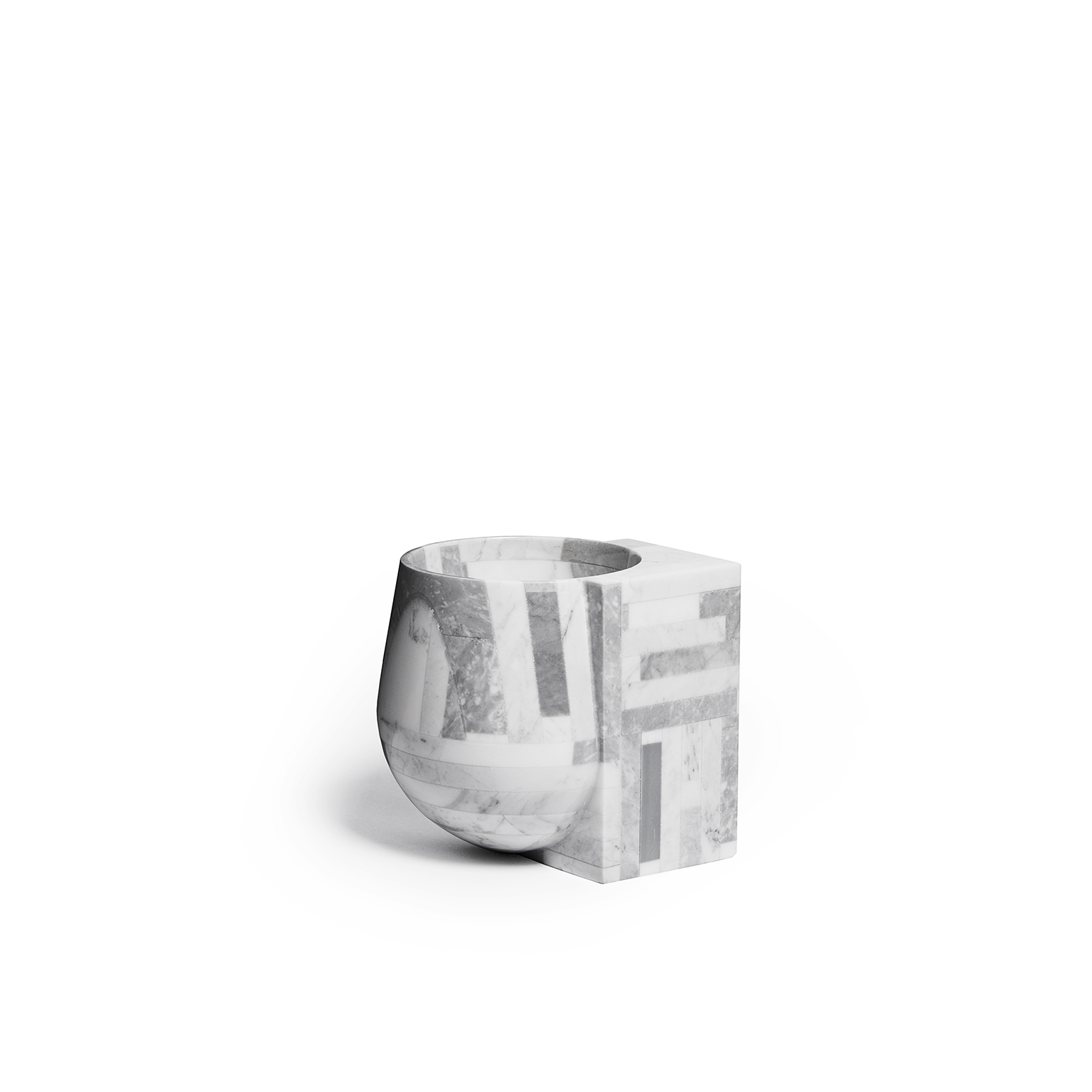 Contrasti - <p>The idea comes up from the will to emphasize the contradictions of natural resource waste. Here the marble is recovered and assembled to make a 3D module.<br /> This module has been finished to highlight the contrast of the linear and geometric side with the random texture that emerge with the cnc machine.<br /> Contrasti is made in collaboration with Stonethica, which produces stone materials as part of an eco-sustainable cycle: waste products from the processing of marble and natural stone are recycled and made into Stonethica slabs through the use of a non-toxic resin.</p>  | Matter of Stuff