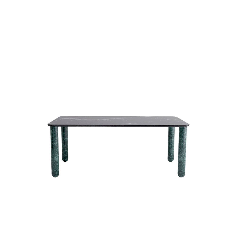 Sunday Dinner Table - Sunday is a family of coffee tables and low consoles with a simple and clean design vocabulary. The combination of heavy marble legs with the thin solid wood or marble top creates an interesting contrast while the rounded edges and generous proportions provide a comforting feeling.   Sunday comes in a wide variety of dimensions and shapes but can also be custom made to your specifications to perfectly fit your interior. | Matter of Stuff