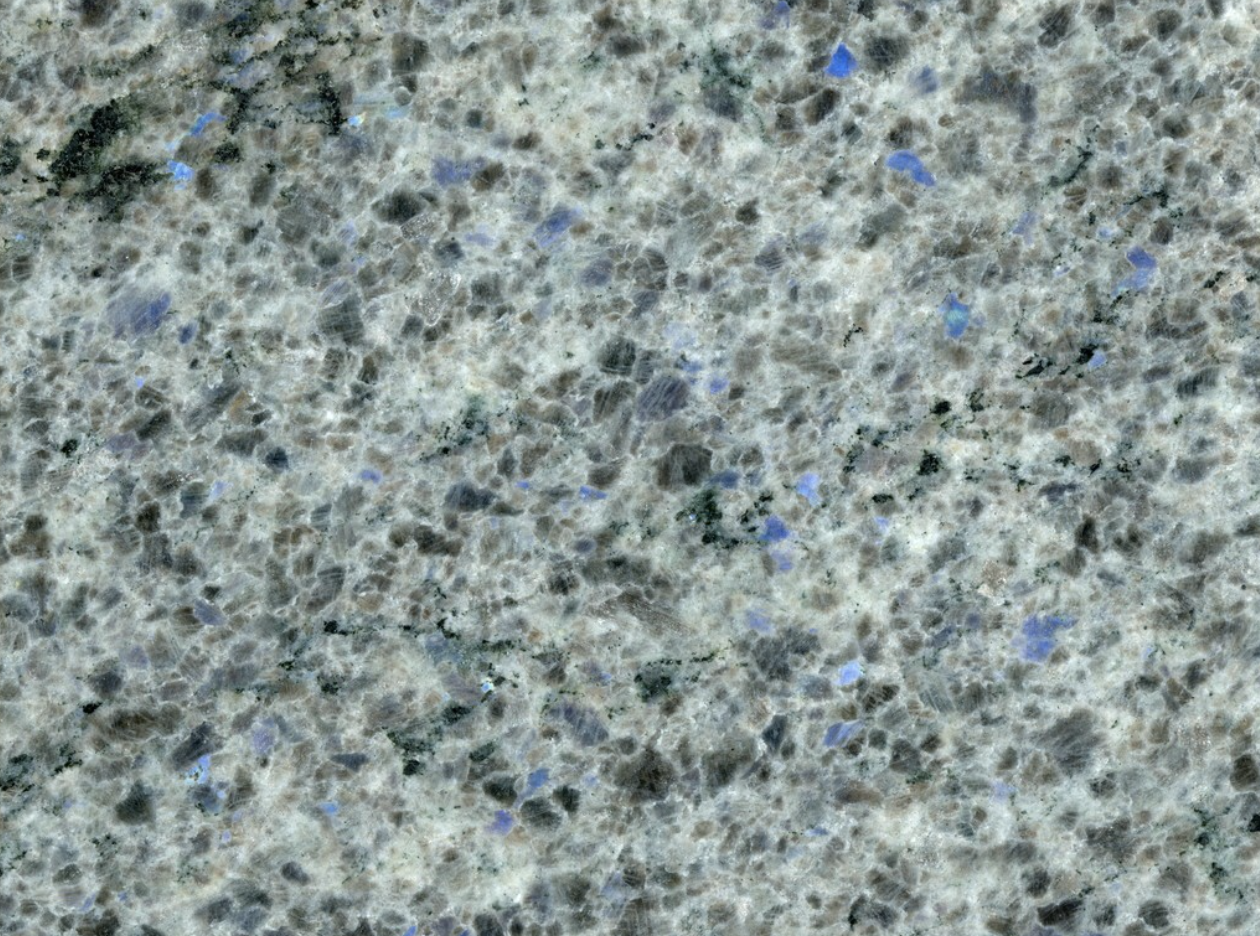 Blue Eyes - Blue Eyes is a very exclusive and charming type of granite. This stone has a green background with blue dots. It is perfectly suitable for any kind of project. | Matter of Stuff
