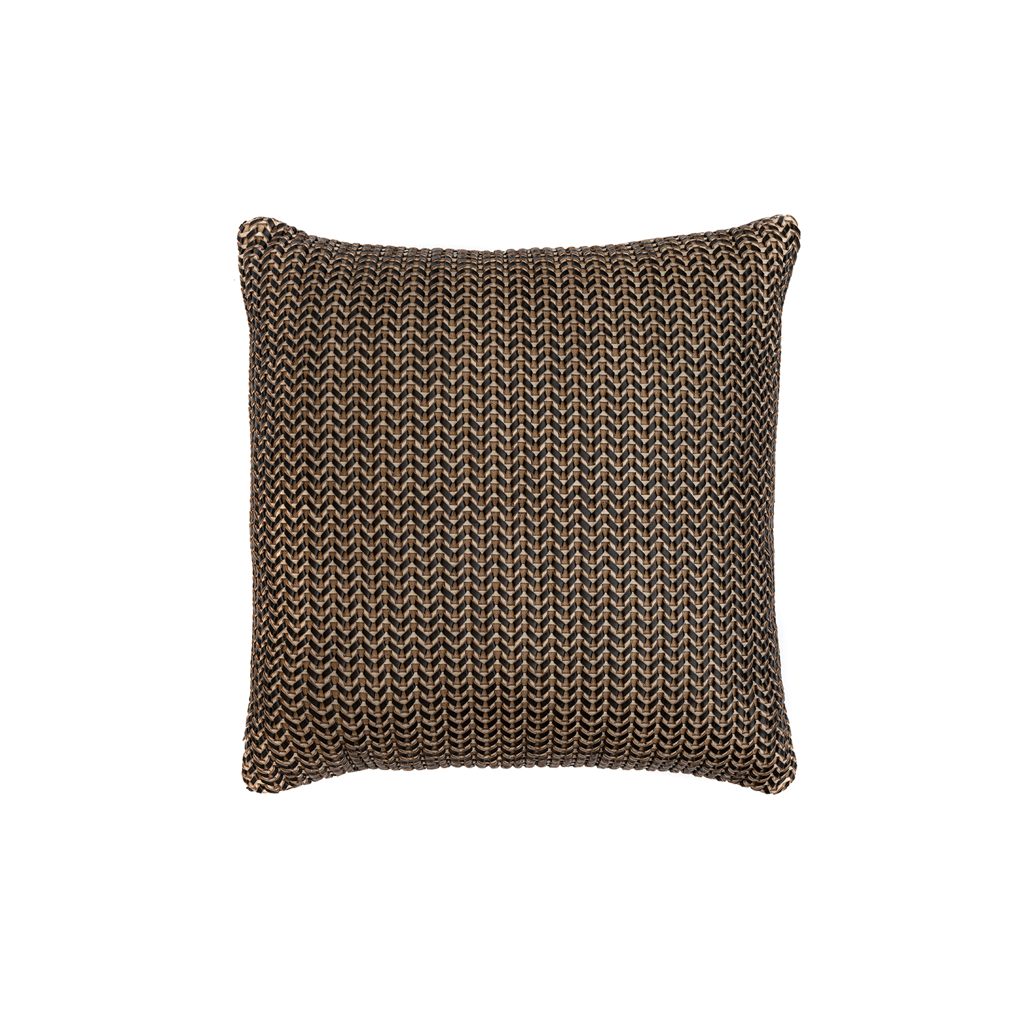 Lanca Bicolor Woven Leather Cushion Square - The Lanca Bicolor Woven Leather Cushion is designed to complement an ambient with a natural and sophisticated feeling. This cushion style is available in pleated leather or pleated suede leather. Elisa Atheniense woven handmade leather cushions are specially manufactured in Brazil using an exclusive treated leather that brings the soft feel touch to every single piece.   The front panel is handwoven in leather and the back panel is 100% Pes, made in Brazil.  The inner cushion is available in Hollow Fibre and European Duck Feathers, made in the UK.  Lanca Bicolor Woven Leather Cushion is available in multiple colours of leather. Please enquire for colour combination, see colour chart for reference.   | Matter of Stuff