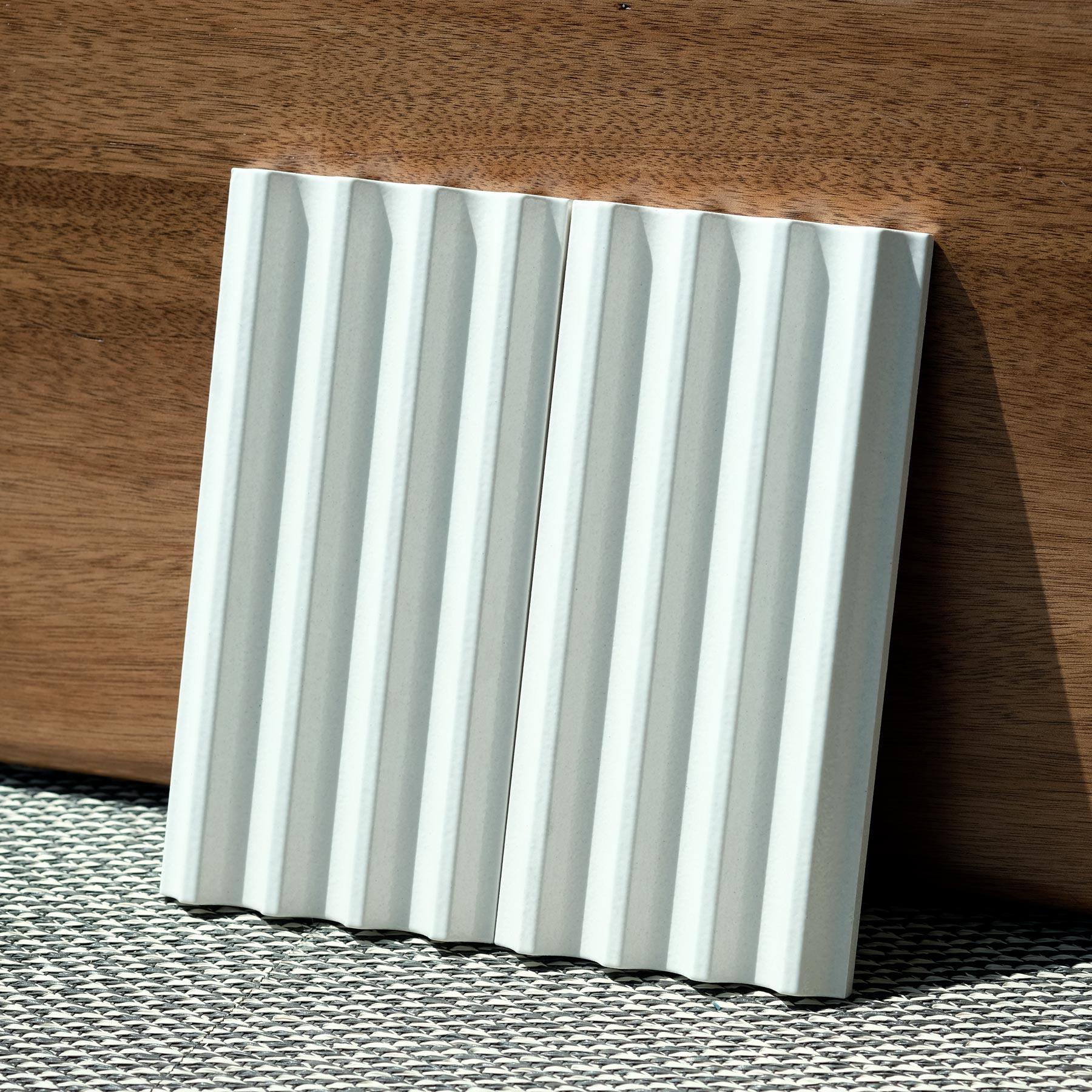 Fluted Tiles White Glossy - Matter of Stuff Fluted ceramic tiles are characterised by a smooth rippled surface. 