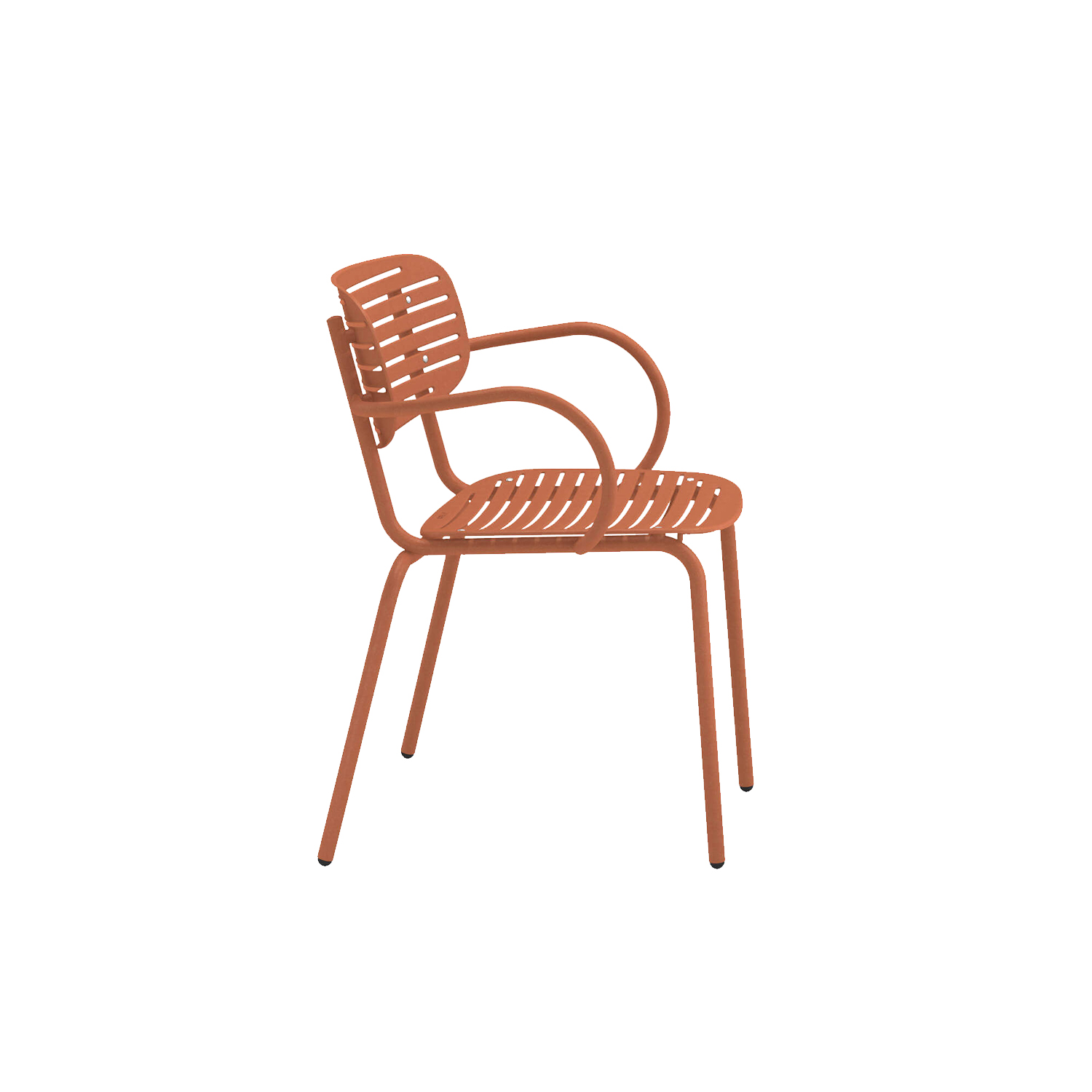 Mom Armchair - Set of 4 - <p>Mom is a brightly coloured collection of steel chairs in two versions, a chair and an armchair. The graphic effect of the elegant, sculptural, metal backrest lightens the soft, snug shapes. The solid colour palette gives this collection a young, fresh and ironic touch.</p>