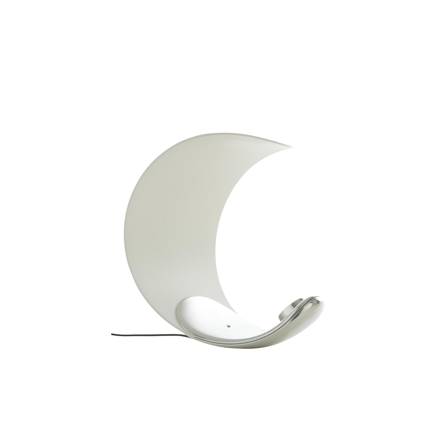Curl Table Lamp -   The Curl lamp is a device with well-balanced proportions and a natural sculptural presence. The typology of reference is the table lamp, a fixture to supply diffused light, shielding glare to create a restful atmosphere. The form of the base allows Curl to assume different positions; a dimmer switch is positioned at its center. | Matter of Stuff