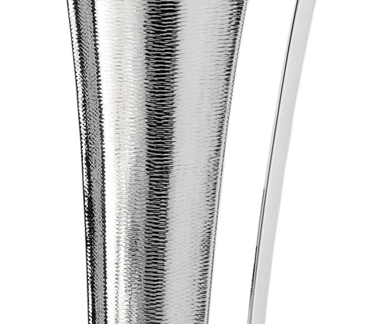 Ermes Pitcher - Sculptural pitcher crafted in a silver-plated alloy with a stunning texture. | Matter of Stuff