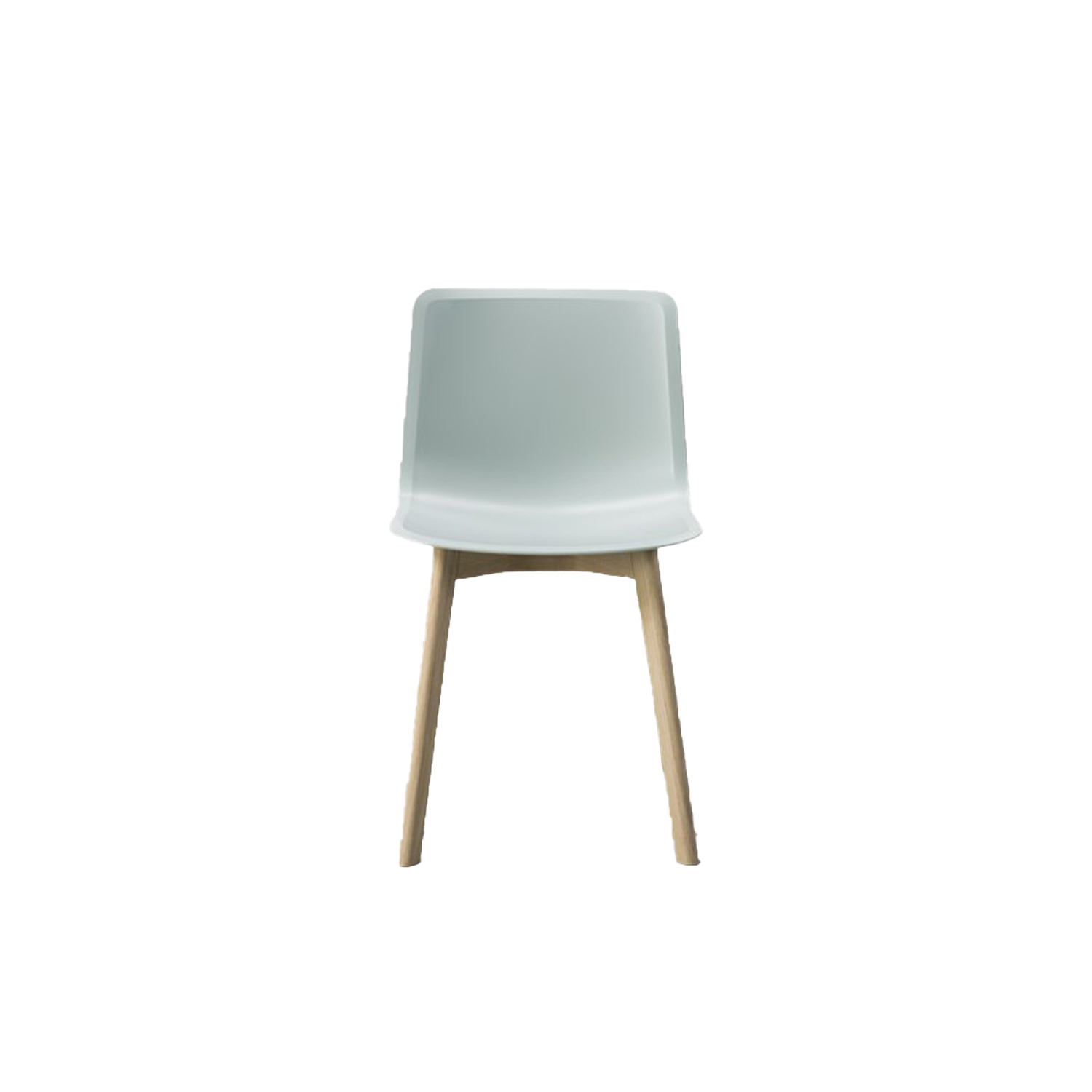 Pato Wood Base Chair - Pato is a carefully crafted chair in eco-friendly polypropylene. It can be tuned from basic to exclusive with optional upholstery. With the solid wood base Pato radiates a warm atmosphere in any environment.  Pato is a prime example of our focus on sustainability and protecting the environment, reflected in a chair that's 100% renewable and recyclable. All components can be incorporated into future furniture production, thus contributing to a circular economy by minimising the use of materials, resources, waste and pollution.   Merging traditional production methods with cutting-edge technology, Pato is a human-centric, highly versatile series of multi-purpose functional furniture that draws on our in-depth experience with materials, immaculate detailing and heritage of fine craftsmanship. Allowing us to apply our high standards of texture, finish and carpentry techniques to an array of materials in addition to wood for products aimed at a mass market.   With its clean lines and curves, Pato echoes the ethos of Danish-Icelandic design duo Welling/Ludvik. Demonstrating their belief that good design has the ability to be interesting, even when reduced to its most simple form. Where anything extraneous is eliminated and every detail has a purpose.   Together we spent nearly three years developing the shell structure to have a soft surface that's also wear and tear resistant. Enhancing the chair's ability to optimally conform to the user's body is a subtle beveled edge. A technique from classic cabinetmaking, which gives the chair a sense of handcrafted finesse. Each Pato is detailed and finished by hand by our highly skilled crafts people, who refine the beveled edge and the silky, resilient surface. Setting a new standard for the execution and finish of polypropylene.   Since the success of its initial launch, we've expanded Pato into an extensive collection of variants, featuring armchairs, barstools, office swivel chairs and a long list of mor