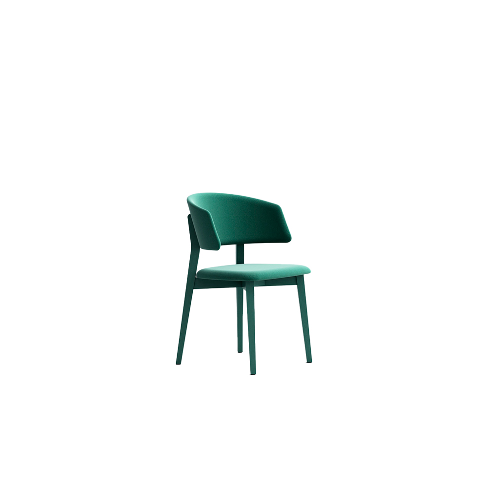 Wrap 6C60 Chair - Seat collection in stained or lacquered beechwood, with fabric, leather or eco-leather upholstery. Capable of transforming a room, a venue, a restaurant, a café through its softness and colour.  Lacquered versions available for an additional surcharge: Ral 9016 White I  Ral 9017 Black I Ral 7030 Stone I Ral 3020 Red | Matter of Stuff