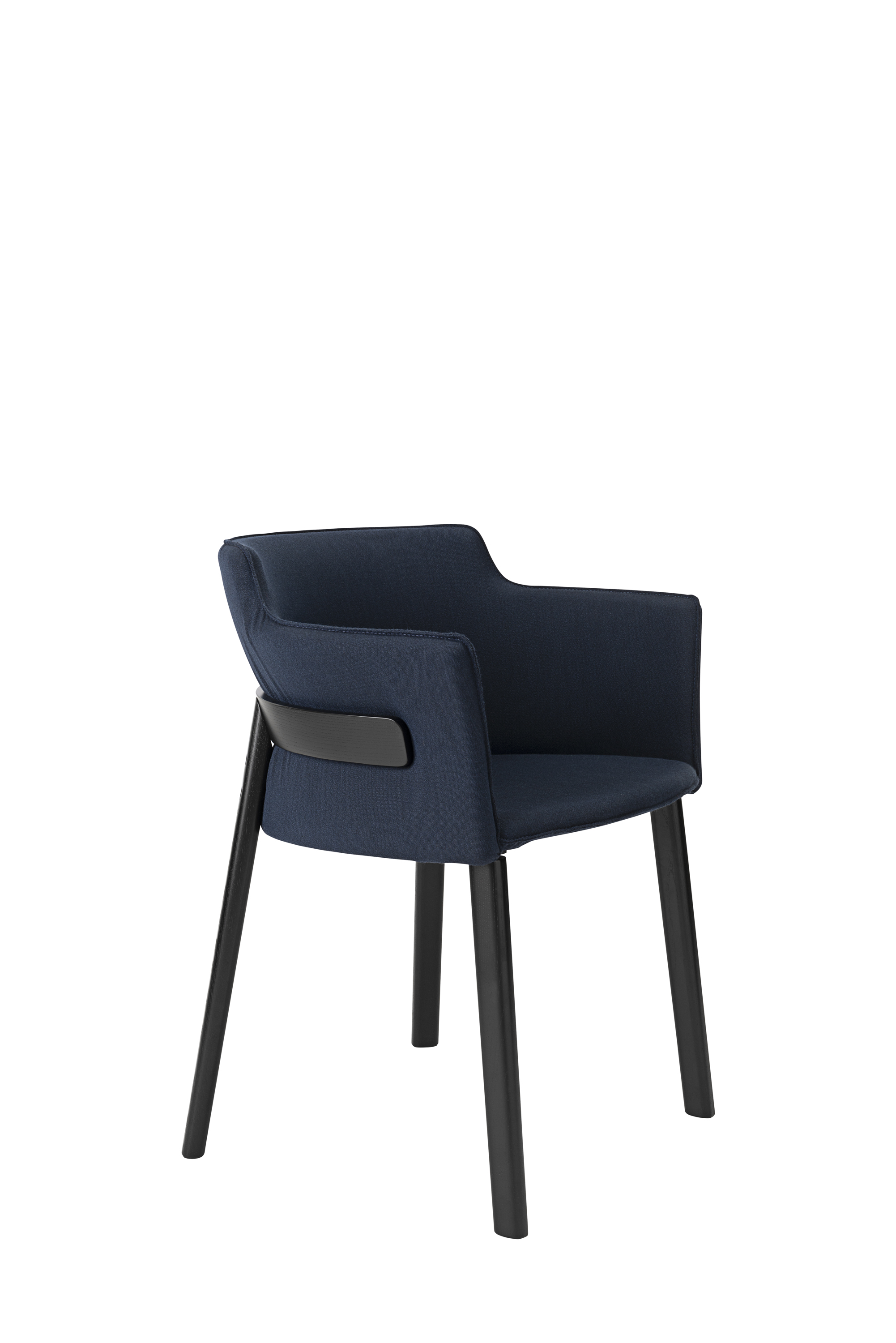 Pince Armchair - This elegant and enveloping armchair combines the tradition of Viennese-style furniture with a contemporary aesthetic. The structure is distinguished for a C-shaped back that encloses the backrest cushions. The wood was bent using the steaming method that evokes the brand's iconic pieces, while interpreting them in a modern way. The frame is entirely cushioned for extra comfort and covered in fabric. | Matter of Stuff