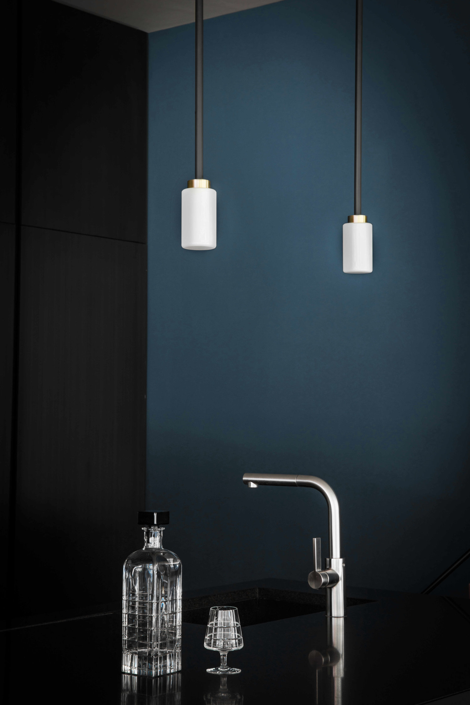 Farol Pendant Light - <p><span>Understated yet sophisticated, the pared-back design of the Farol Pendant Lamp complements any interior scheme.A simple cylindrical shade in either opal or smoked glass is suspended from a drop rod with a single brass highlight.</p> <p>Customisable cable lenght, please enquire.</span></p>    Matter of Stuff